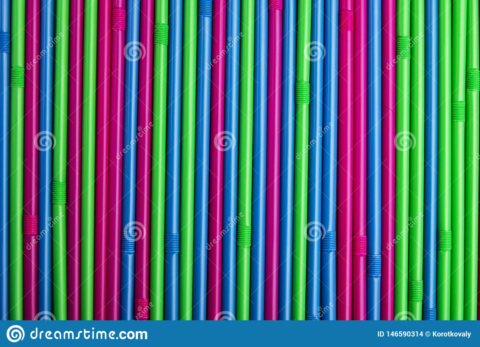 Colorful drinking Straws.
