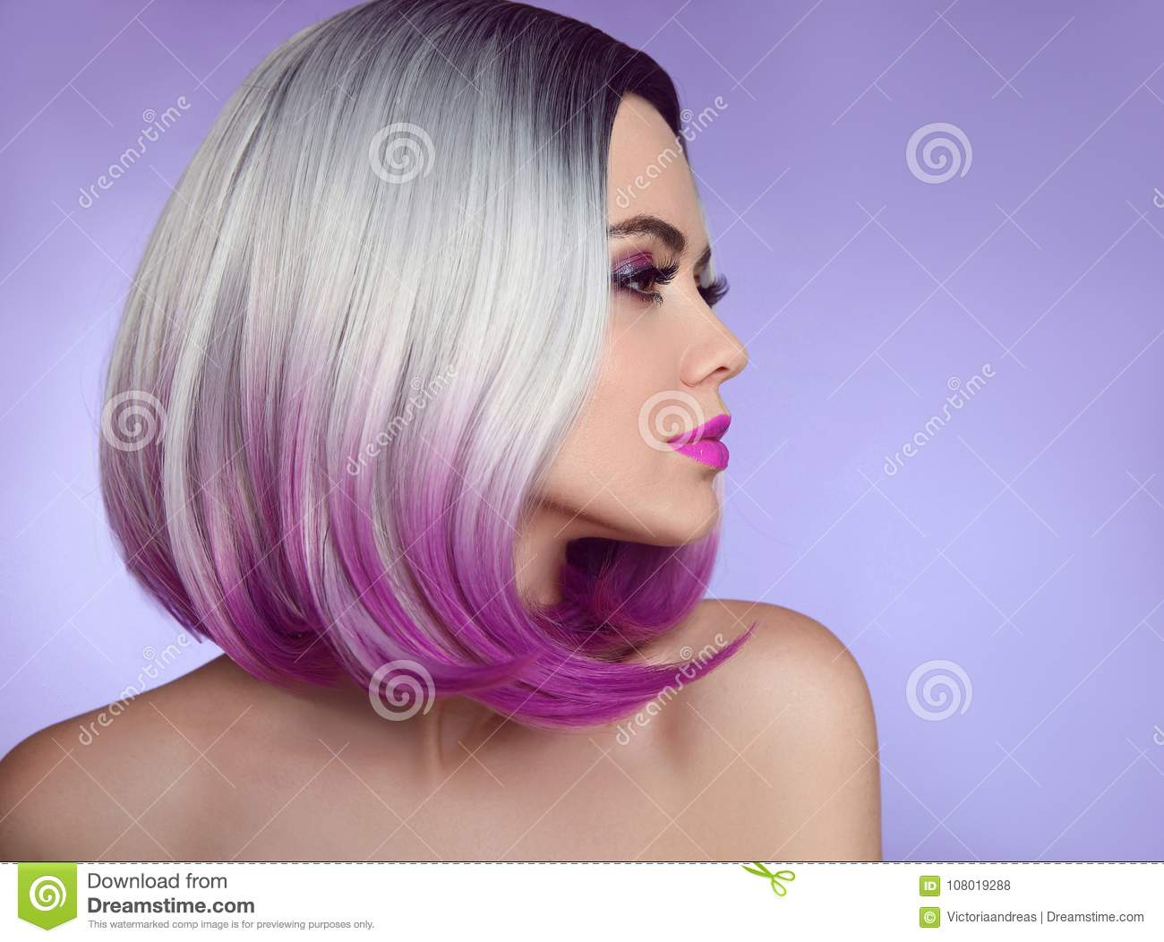 Colorful Dyed Ombre Hair Extensions Fashion Haircut Beauty Mod