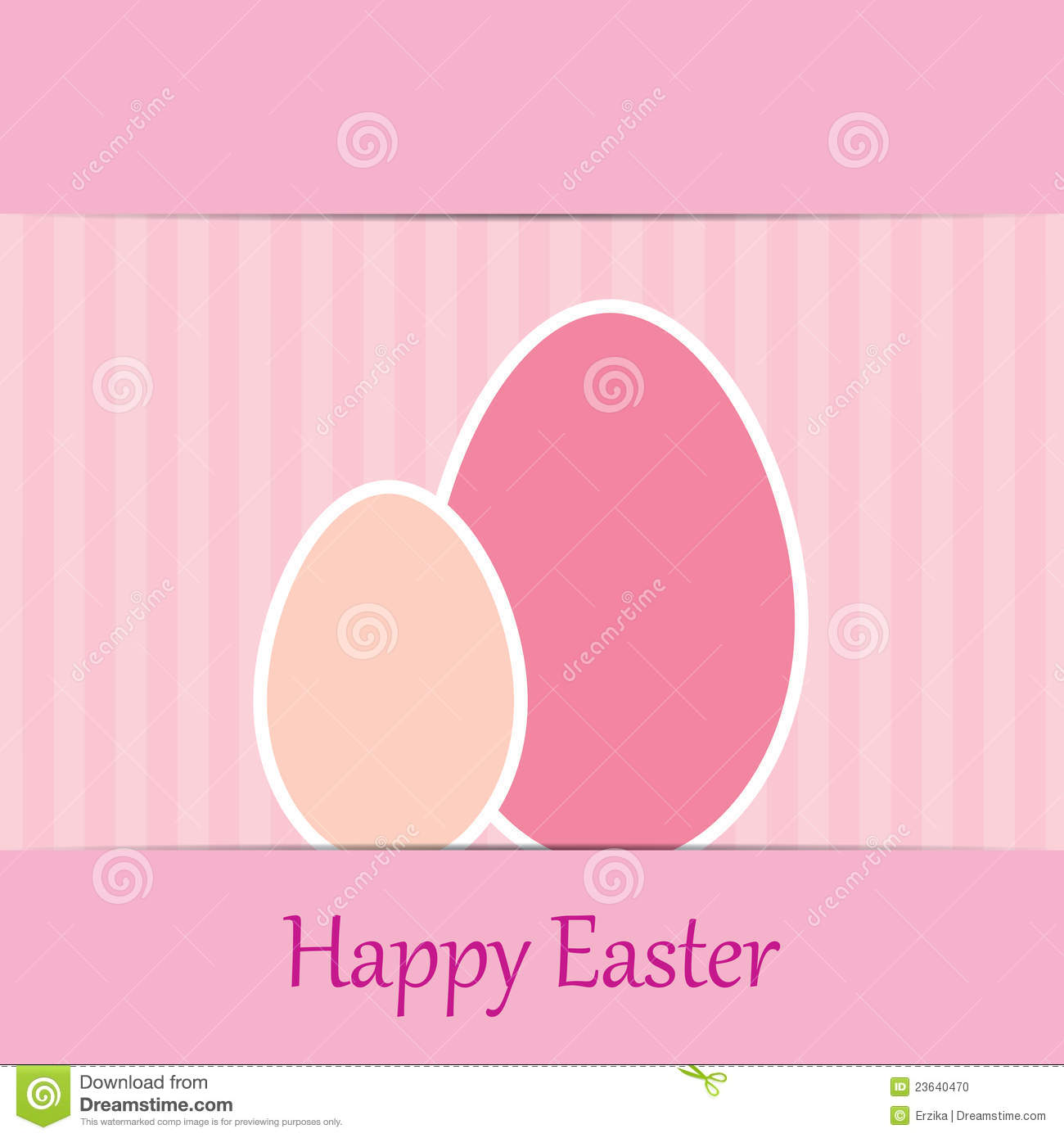 Colorful easter card with two eggs