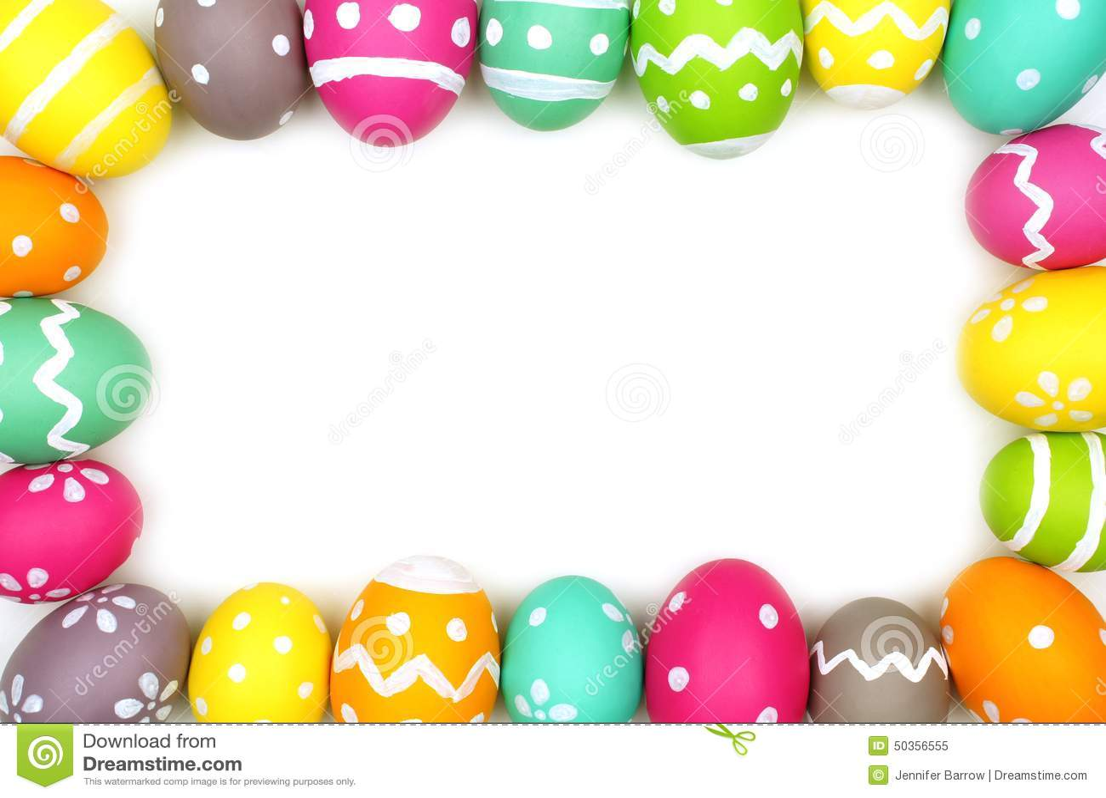 Colorful Easter Egg Frame Stock Image. Image Of Frame