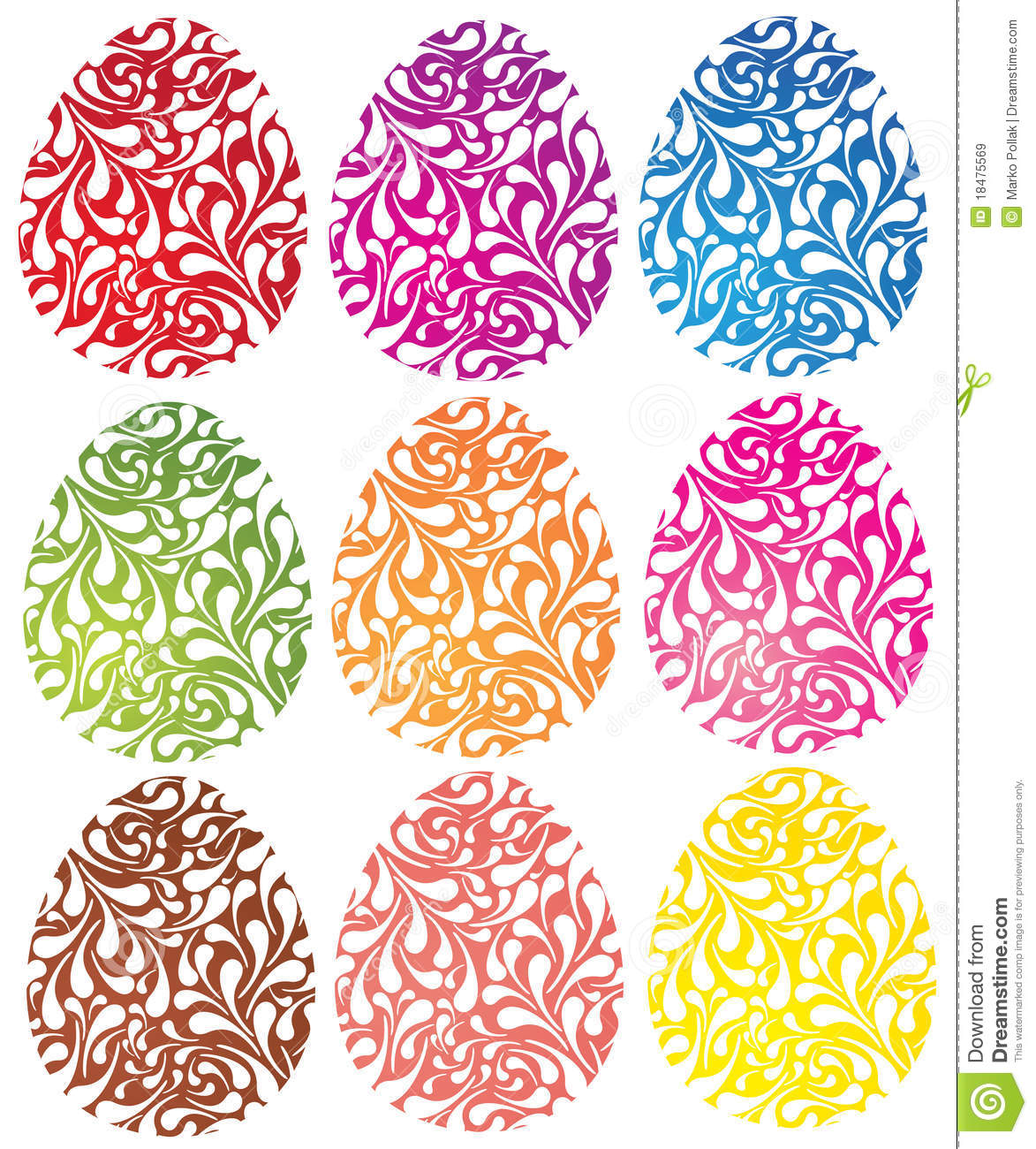 Colorful Easter Egg Set Royalty Free Stock Images   Image  18475569 5tL0snsR