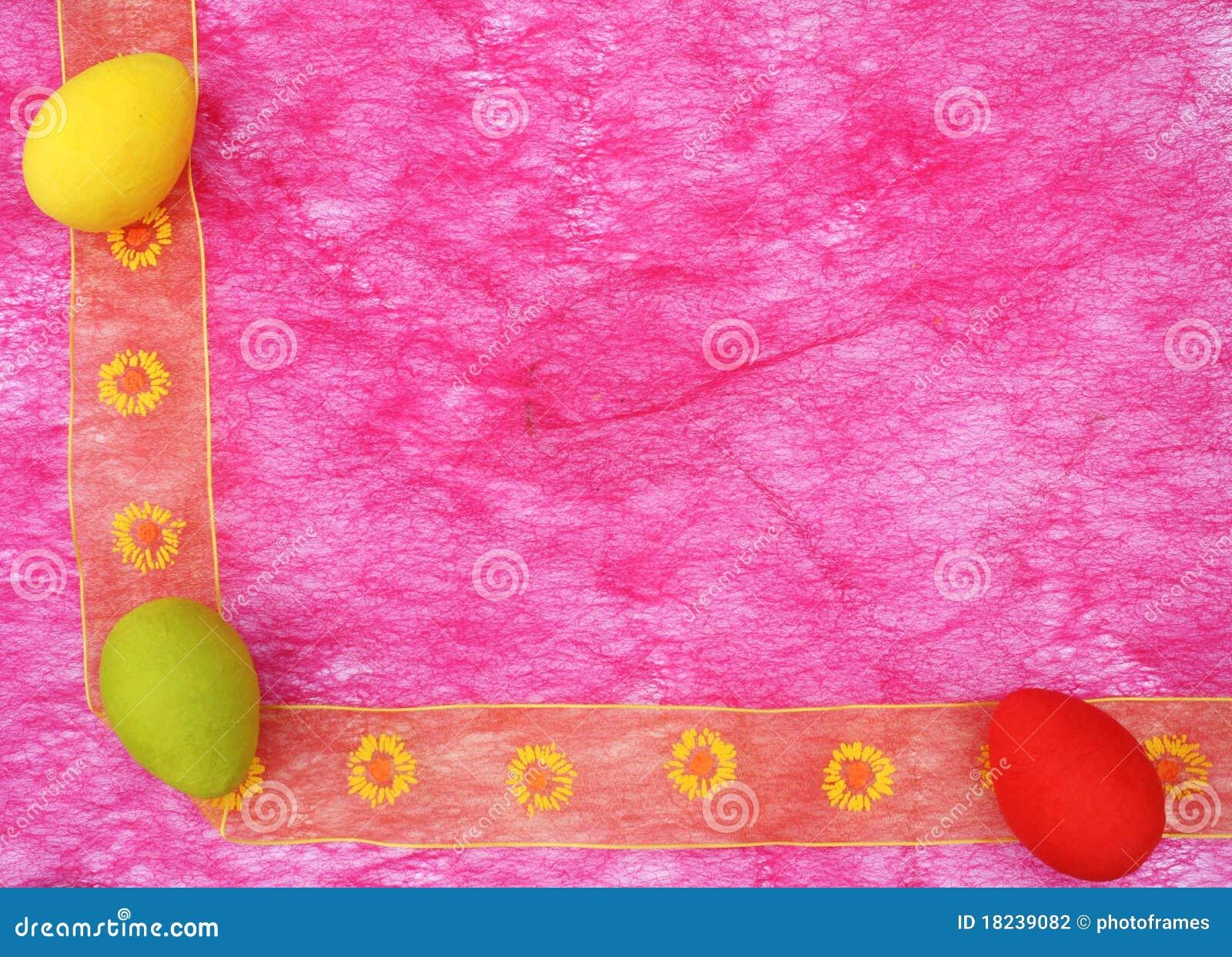 Colorful easter eggs corner boarder