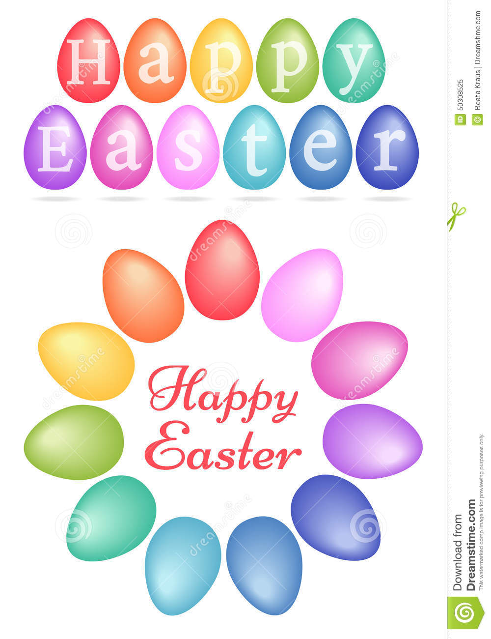 Happy Easter colorful Easter eggs set of vector design elements q956cETV