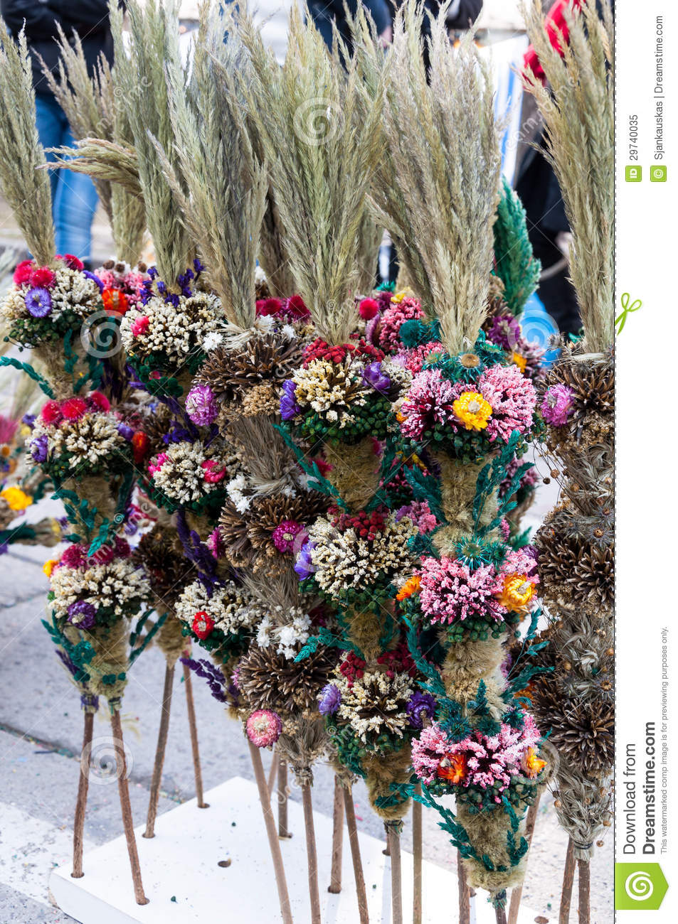 Easter palms for sale royalty free stock photo image for Dried flowers for crafts