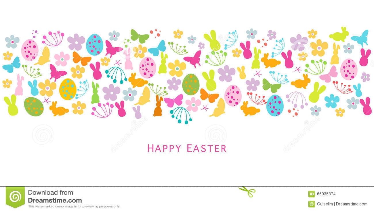 Colorful easter symbols border design greeting card stock vector download colorful easter symbols border design greeting card stock vector illustration of spring background m4hsunfo