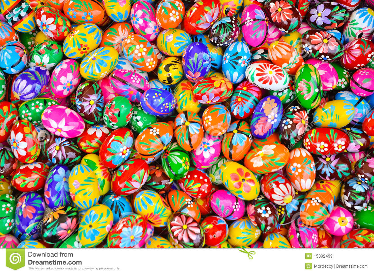 Colorful eastern eggs