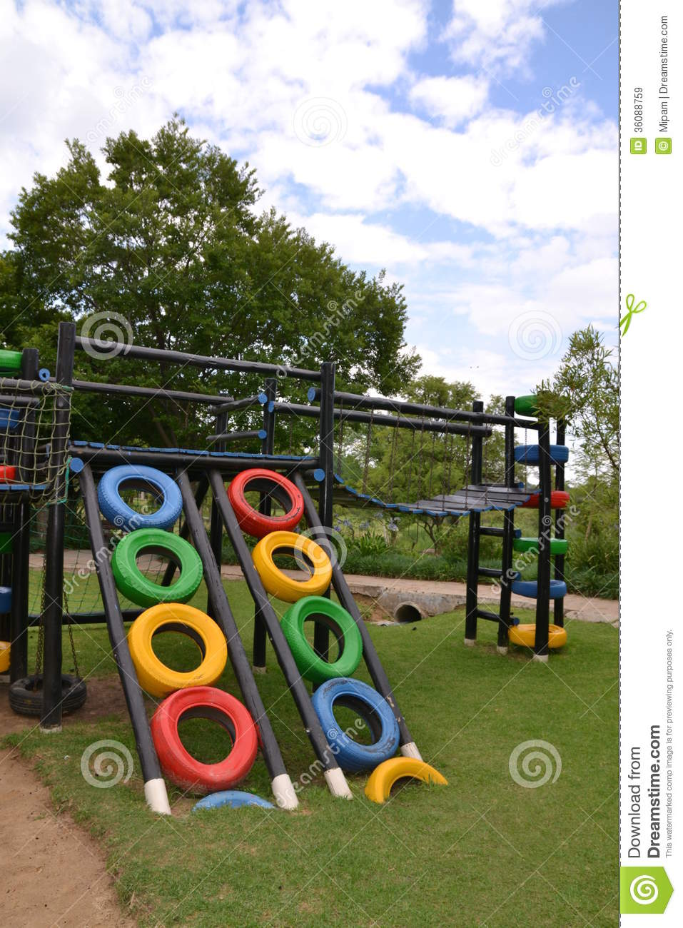 Colorful eco playground stock image image of tyres tyre for Children s material