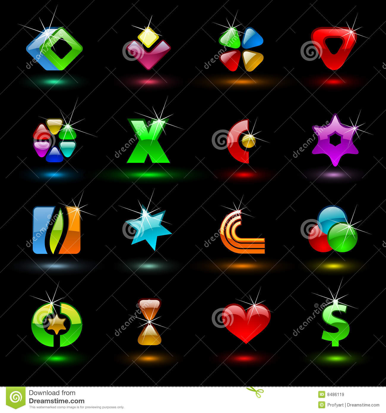 Colorful editable vector signs 1