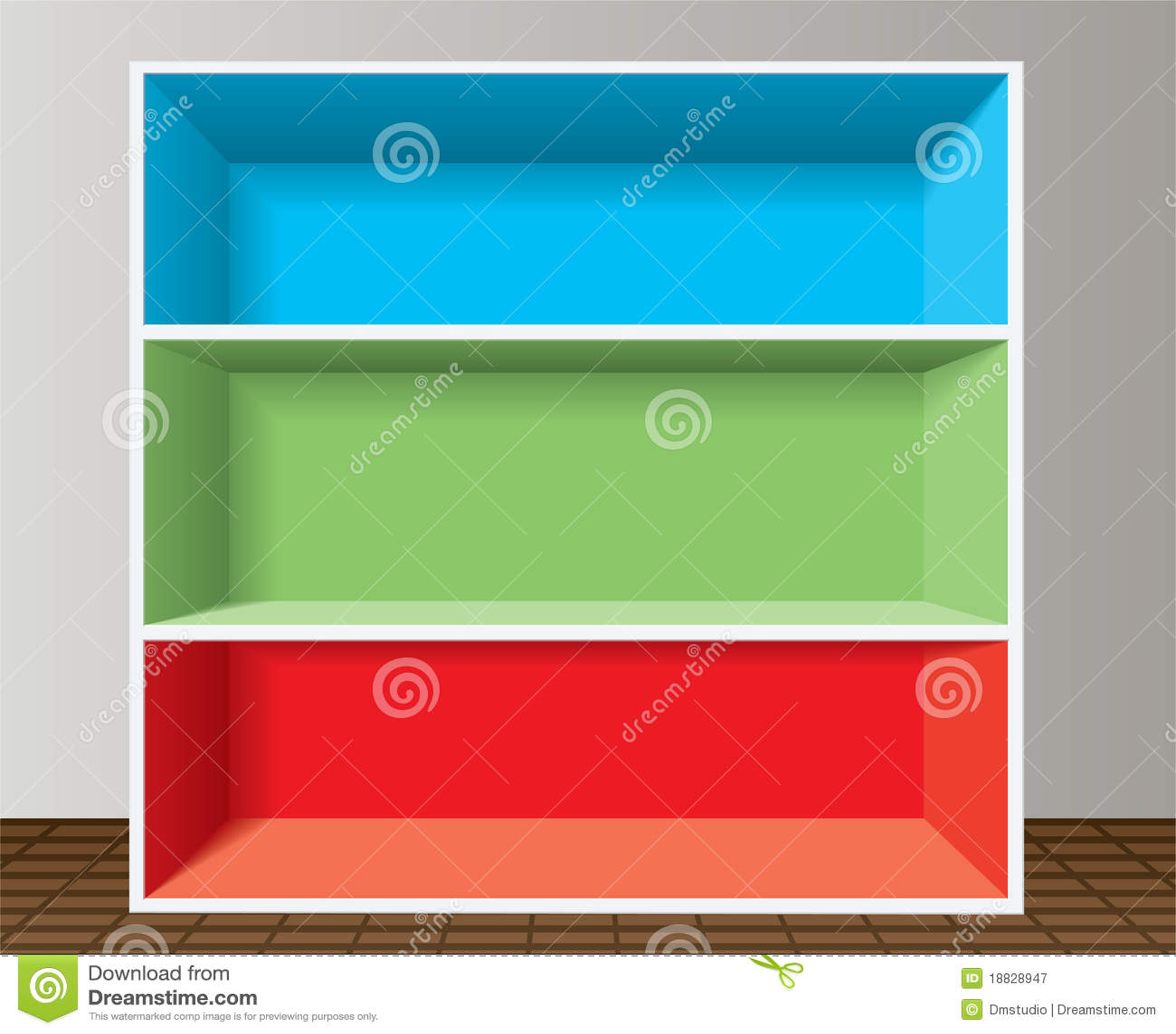 Colorful Empty Bookshelf Royalty Free Stock Photography - Image ...