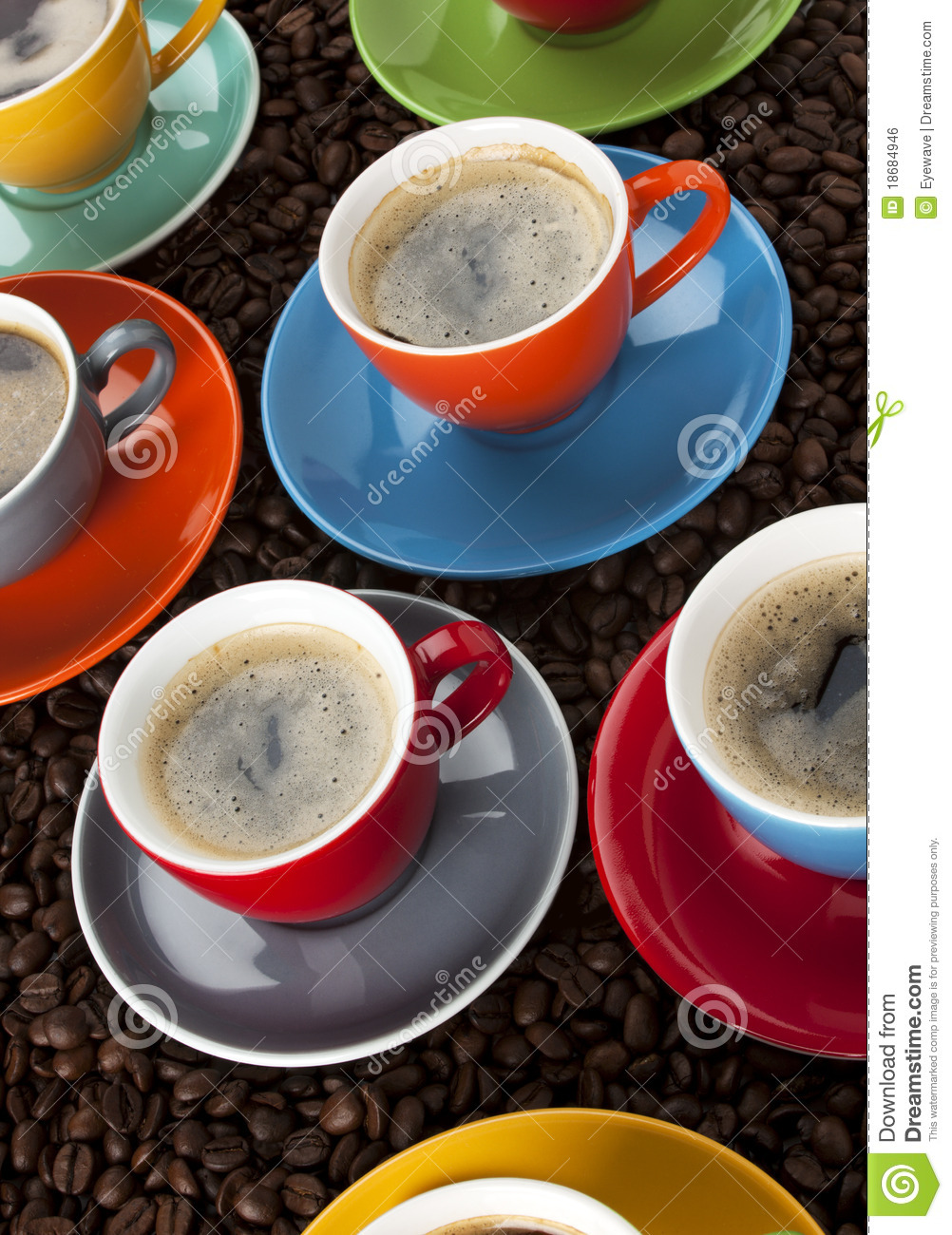 colorful espresso cups 18684946 Small Coffee Cups Colorful Coffee Cups Royalty Free Stock Photo Image