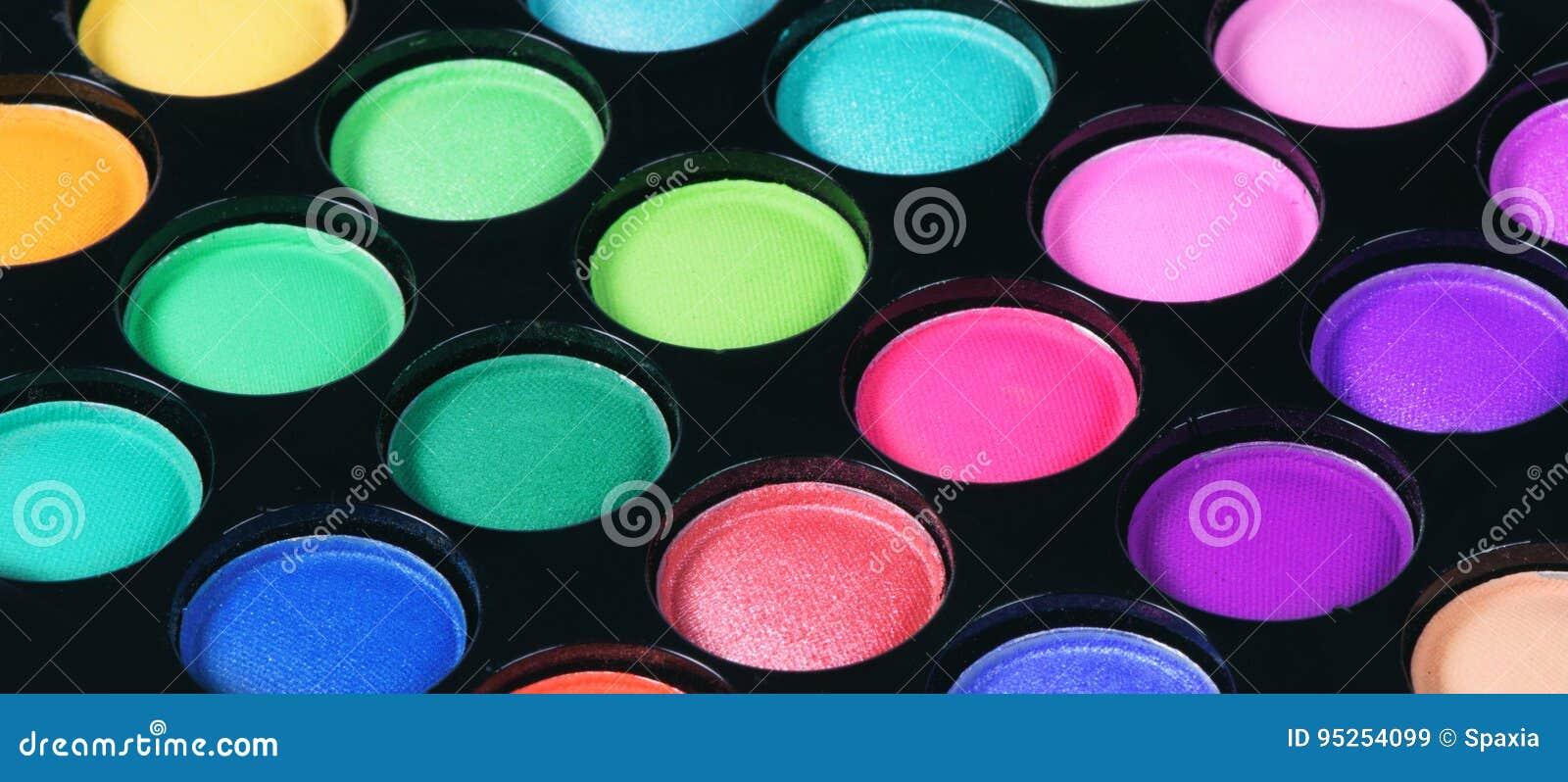 Colorful eye shadows palette