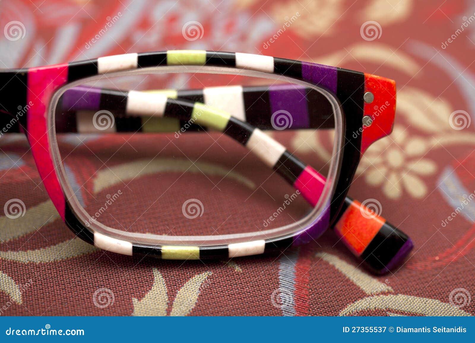 Colorful eyeglass frame stock illustration. Illustration of ...