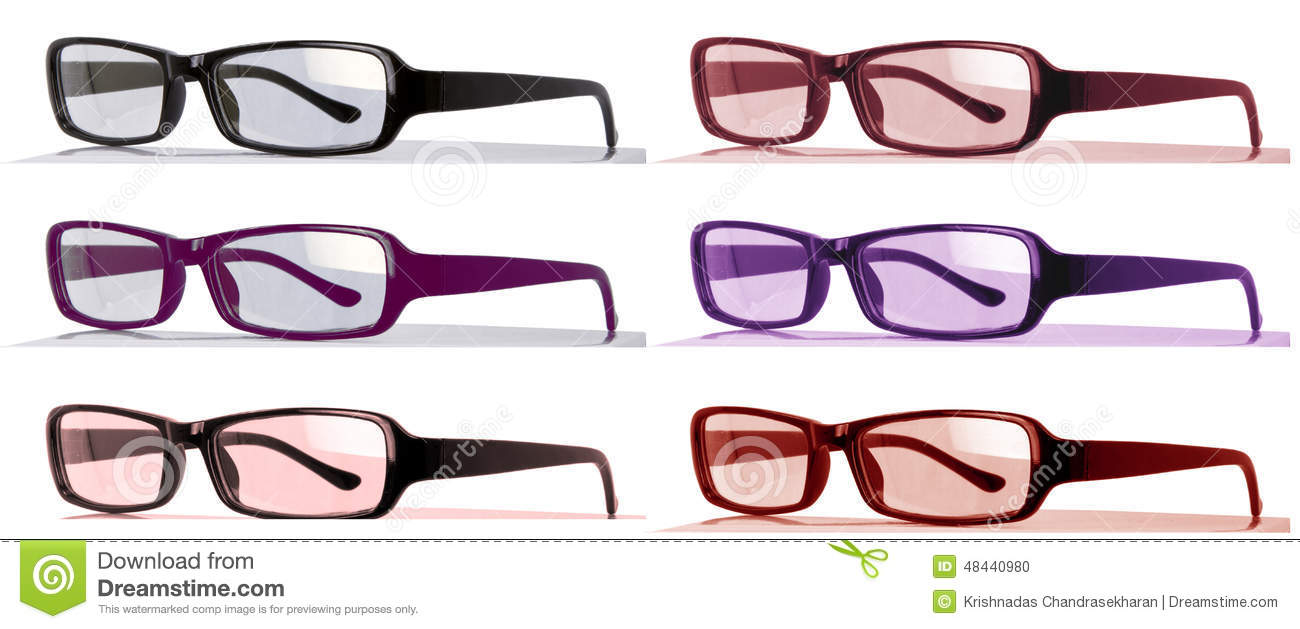 d3a2bc74e97 Colorful eyeglasses with bent arches side view stock photo image jpg  1300x629 Colorful eyeglasses