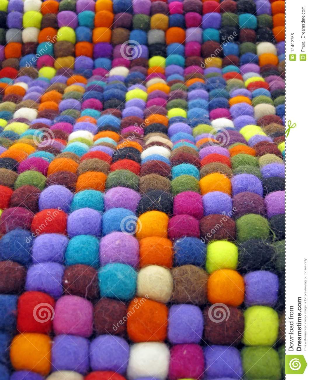 Colorful Fabric Turkish Silk Carpet Colors Royalty Free