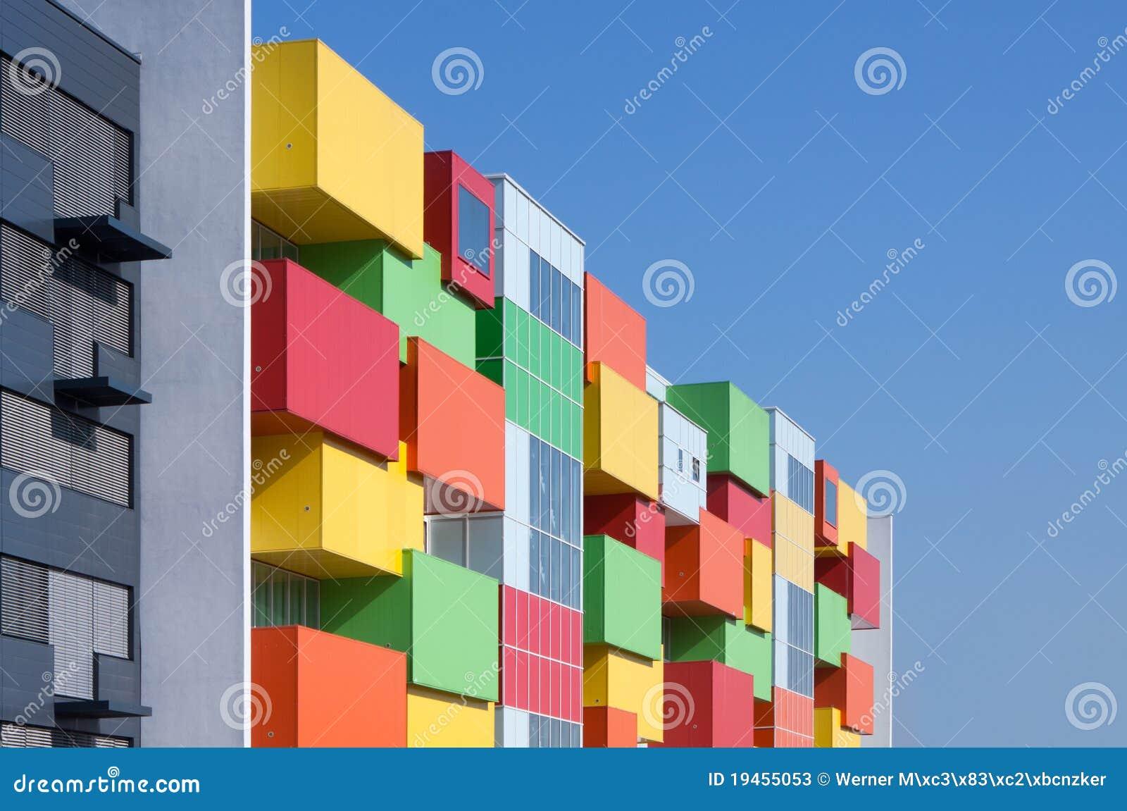 Colorful facade stock photos image 19455053 for Casas para jardin infantil