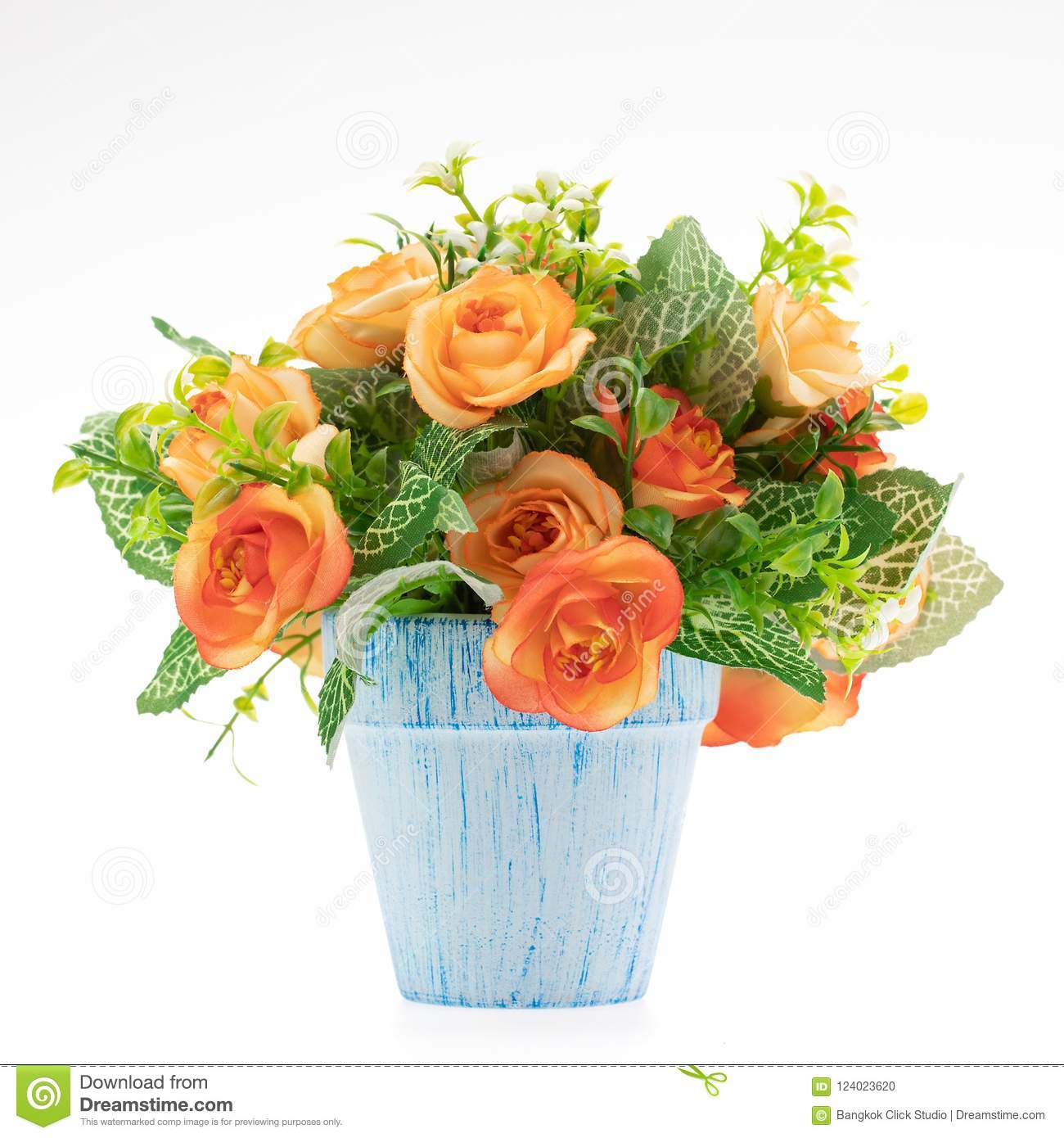 Colorful Fake Flower Handcraft From Cloth In Vase For Decoration Stock Photo Image Of Artificial Hand 124023620