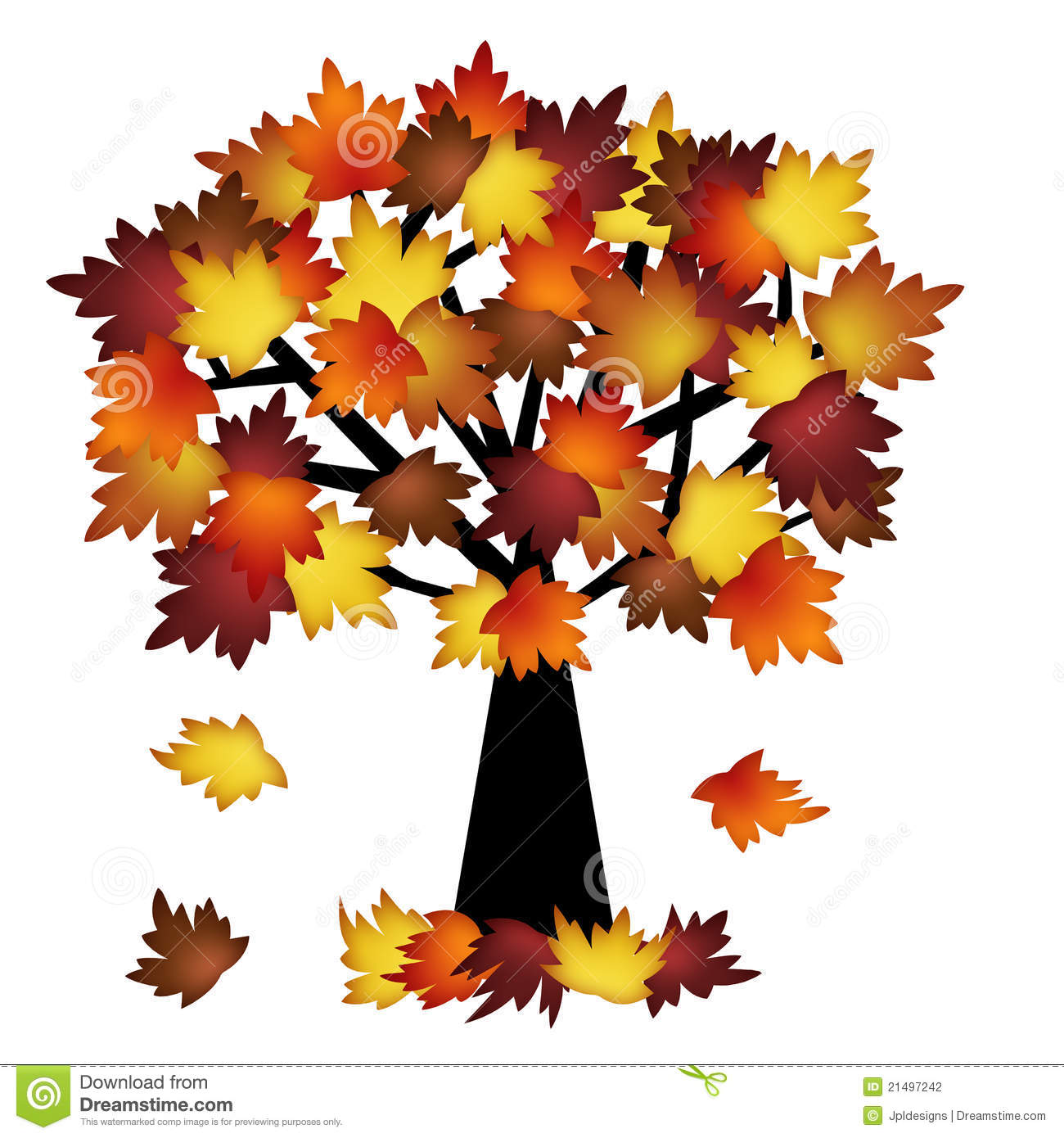 Colorful Fall Leaves On Tree Stock Photography - Image: 21497242