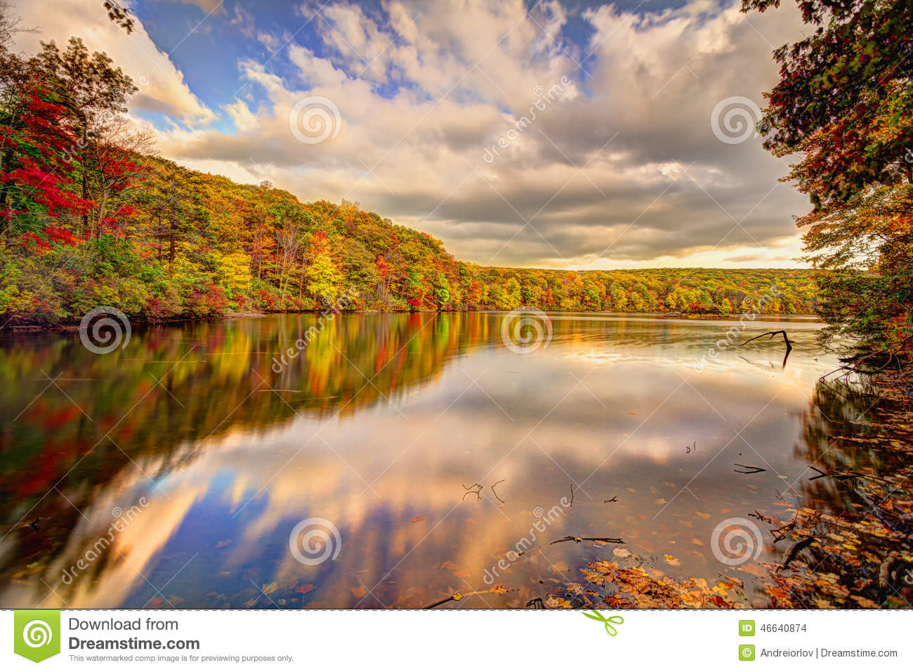 Nature Images 2mb: Colorful Fall Scenery Landscapes. Stock Photo
