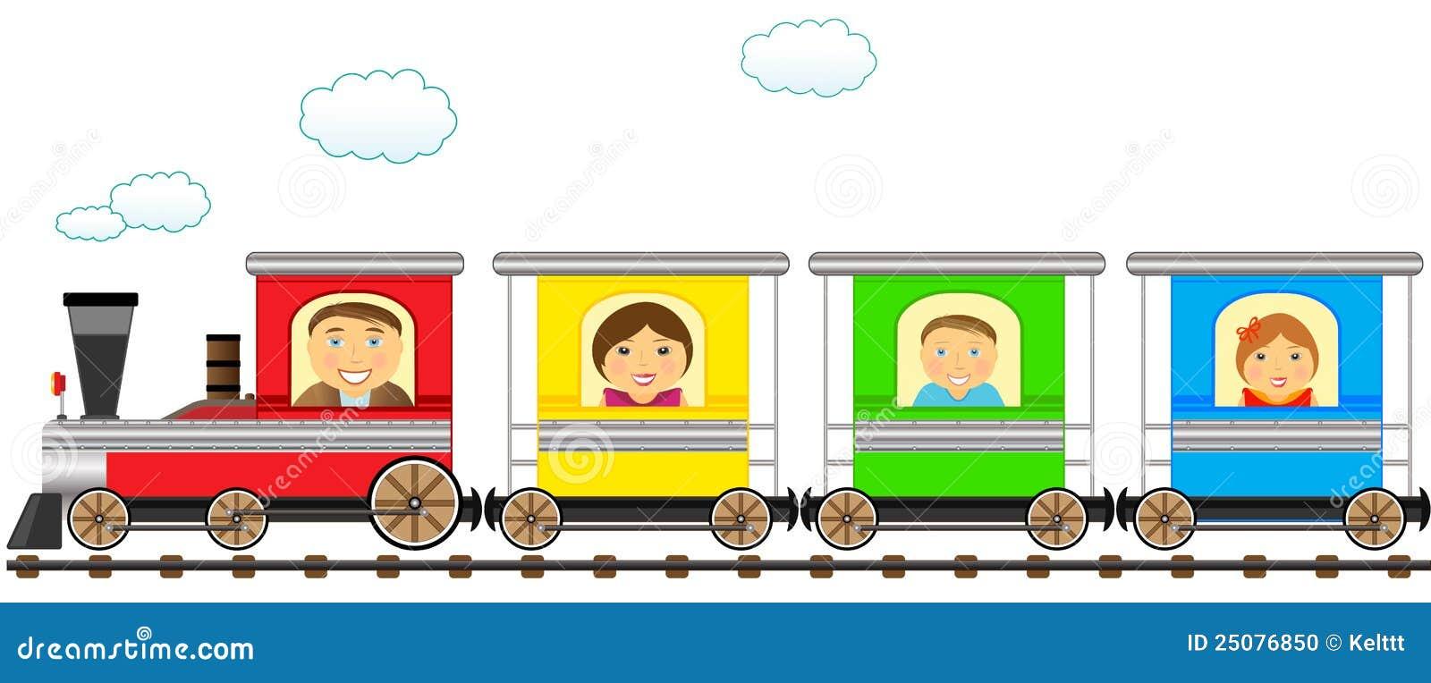 Cute cartoon trains