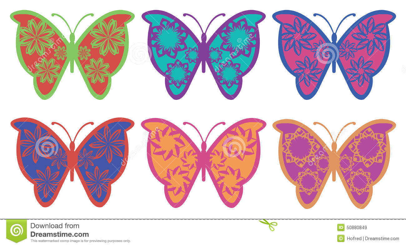 Colorful Fancy Butterfly Vector Design Stock Vector ...