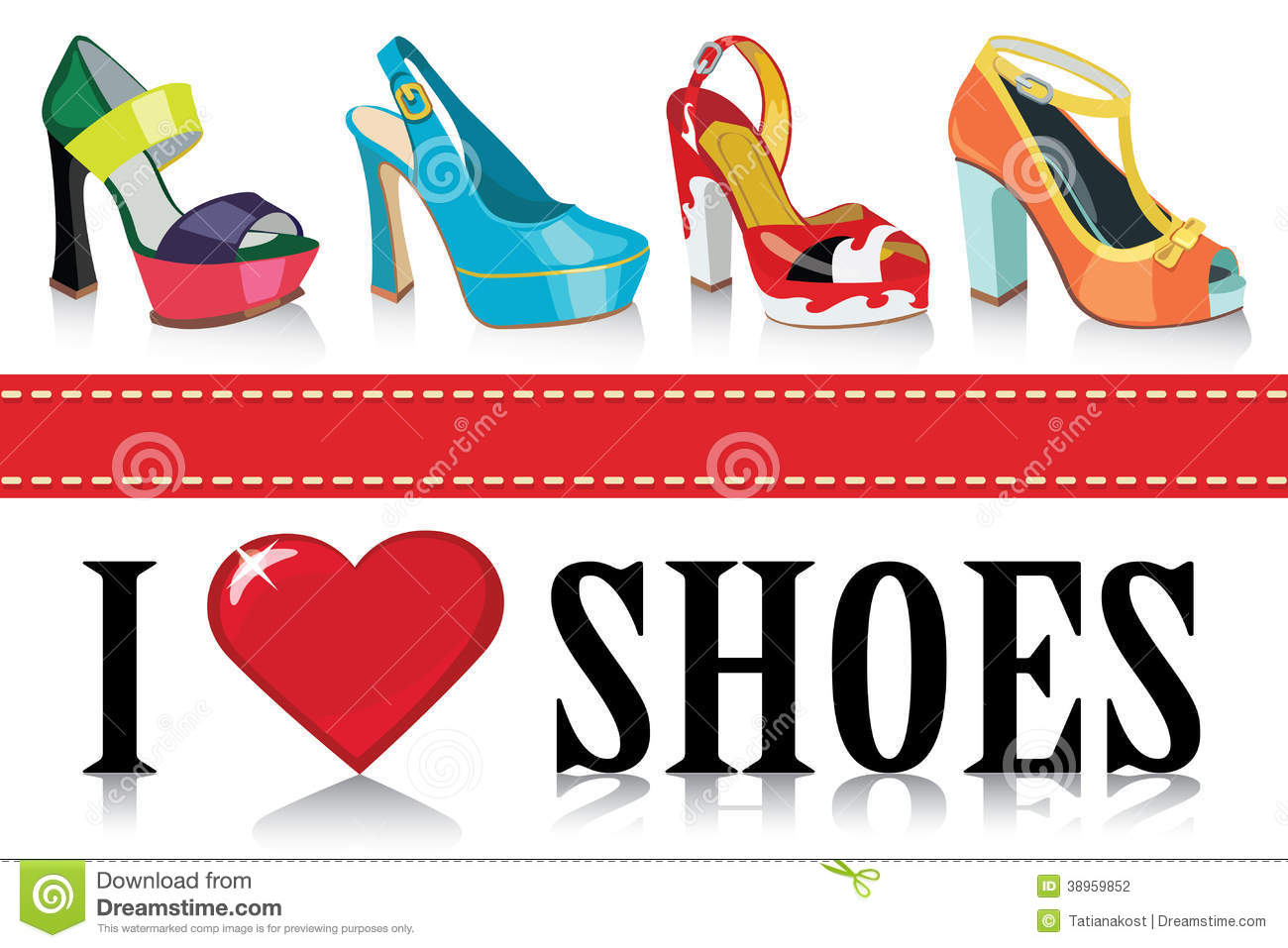 Colorful Fashion Womens Shoes Fashion Stock Vector Image