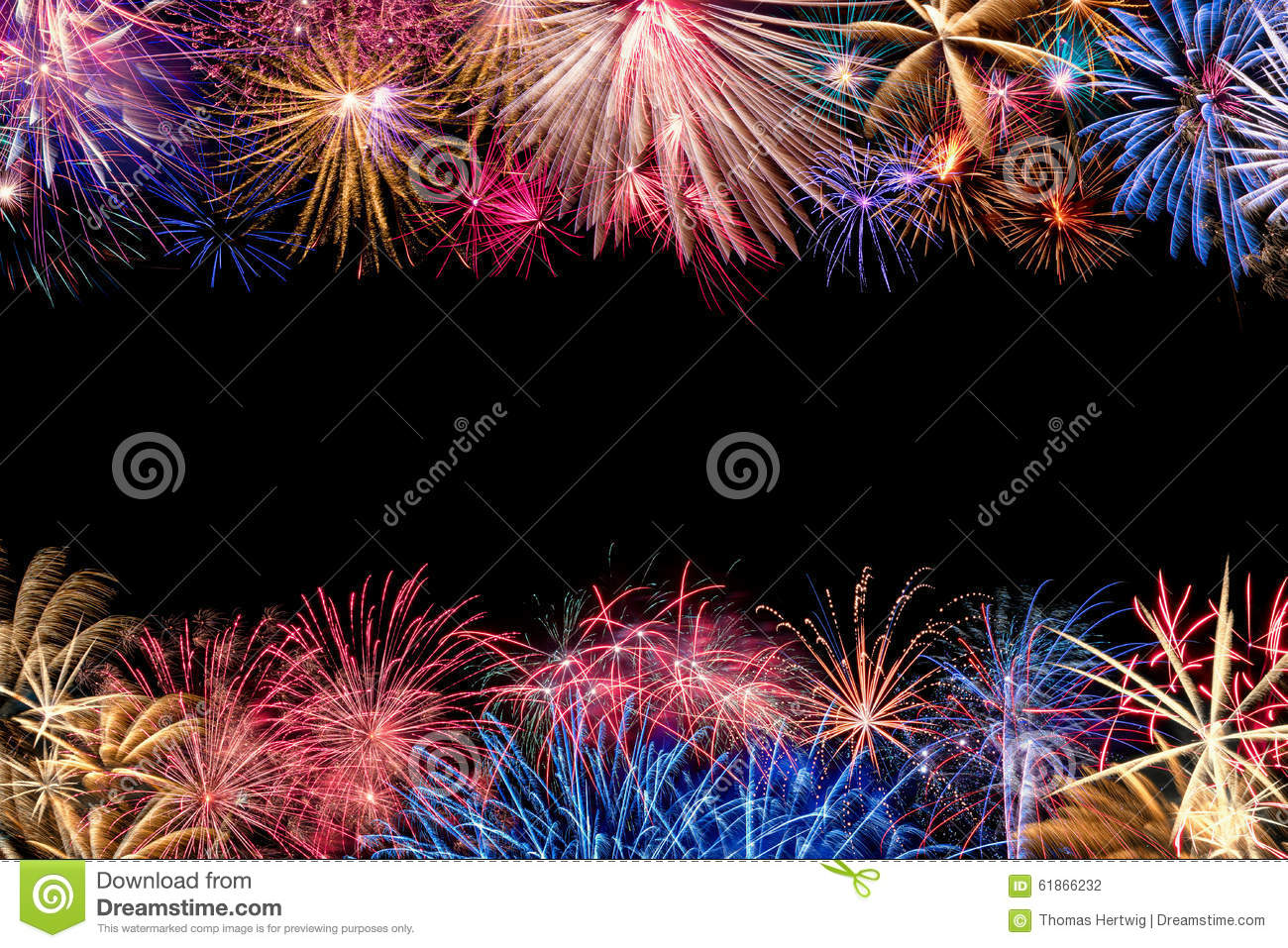 colorful fireworks display border