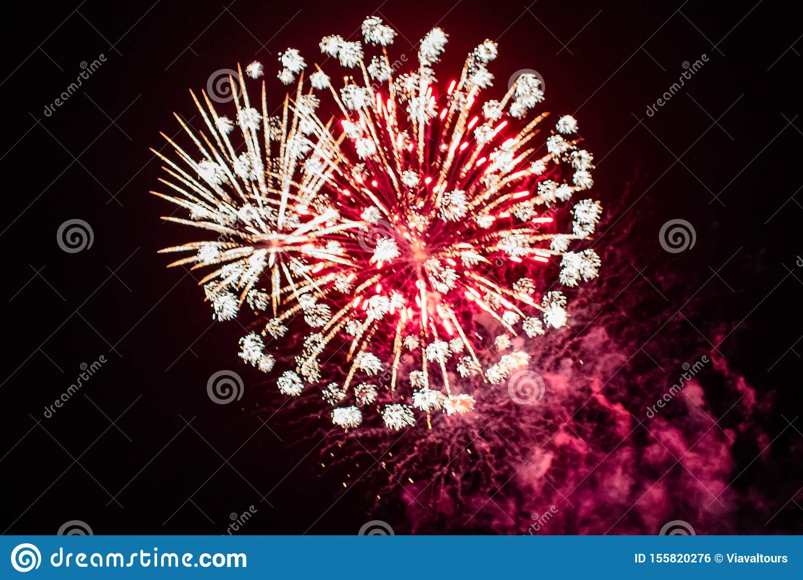 Colorful fireworks in Summer Nights 1.