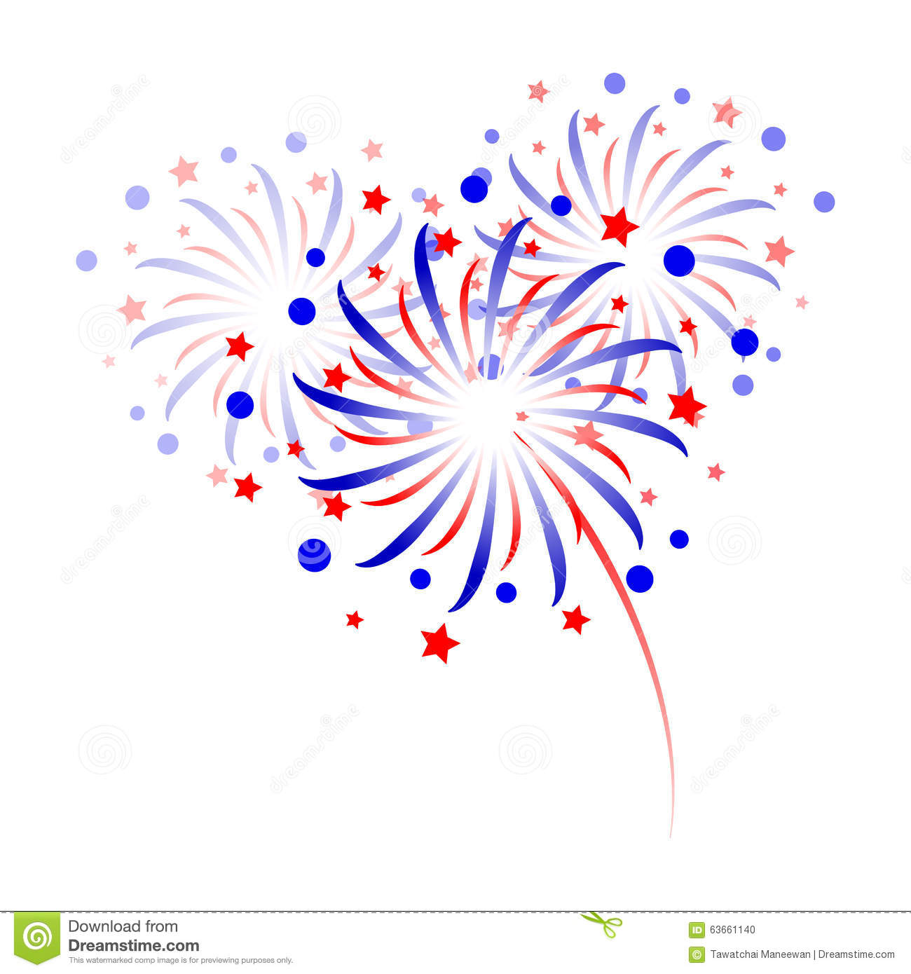 Colorful Fireworks On White Background Stock Vector ...