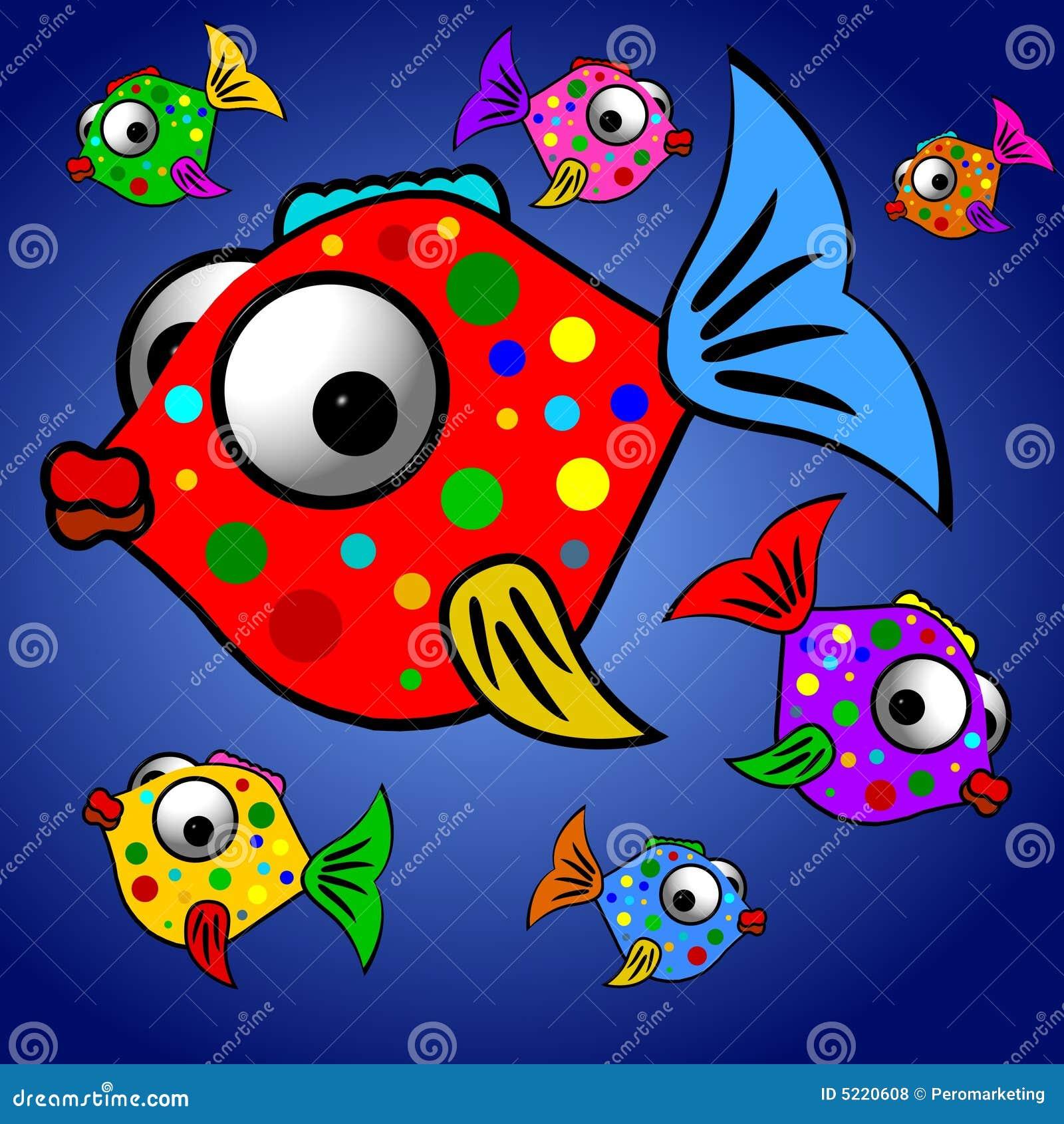 Colorful Fish Illustration stock illustration. Illustration of ...