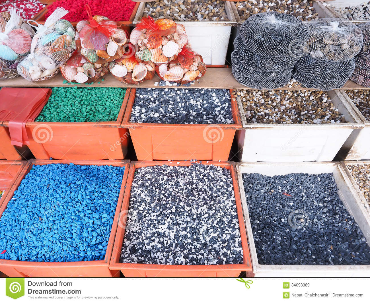 Colorful Fish Tank Gravel Stock Image Image Of Sale 84098389