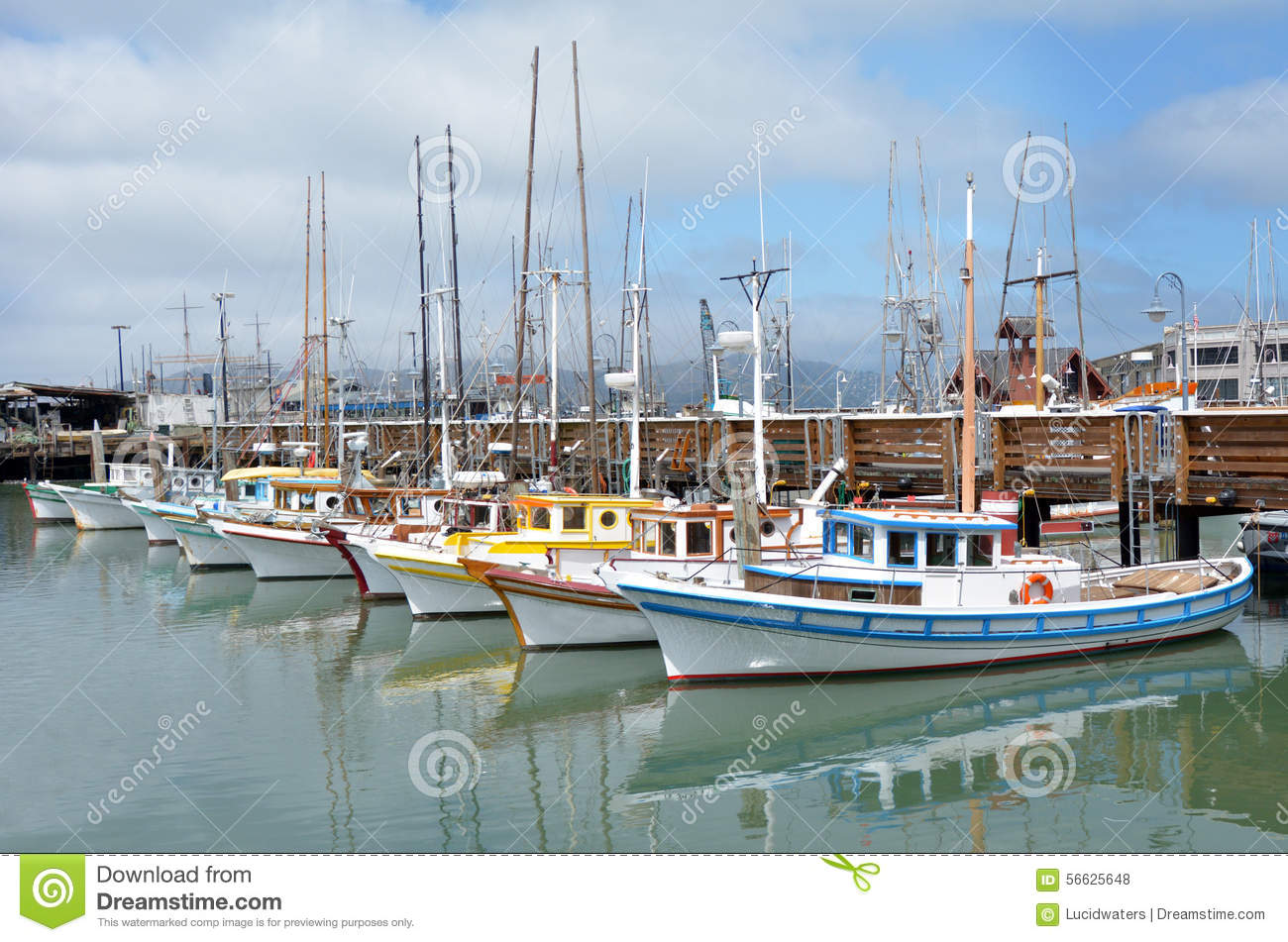 Fisherman 39 s wharf buildings piers marina royalty free for Fishing store san francisco