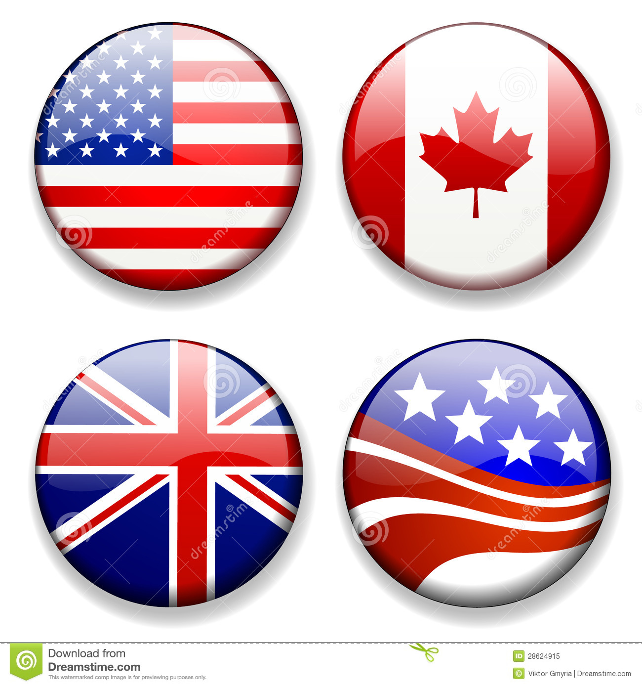 Colorful Flag Badges Icons Vector Royalty Free Stock Photo - Image ...