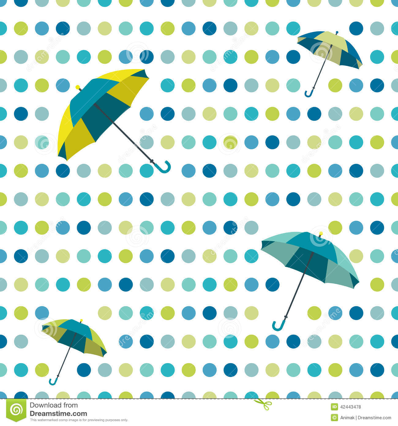 Polka Design Cartoon Vector