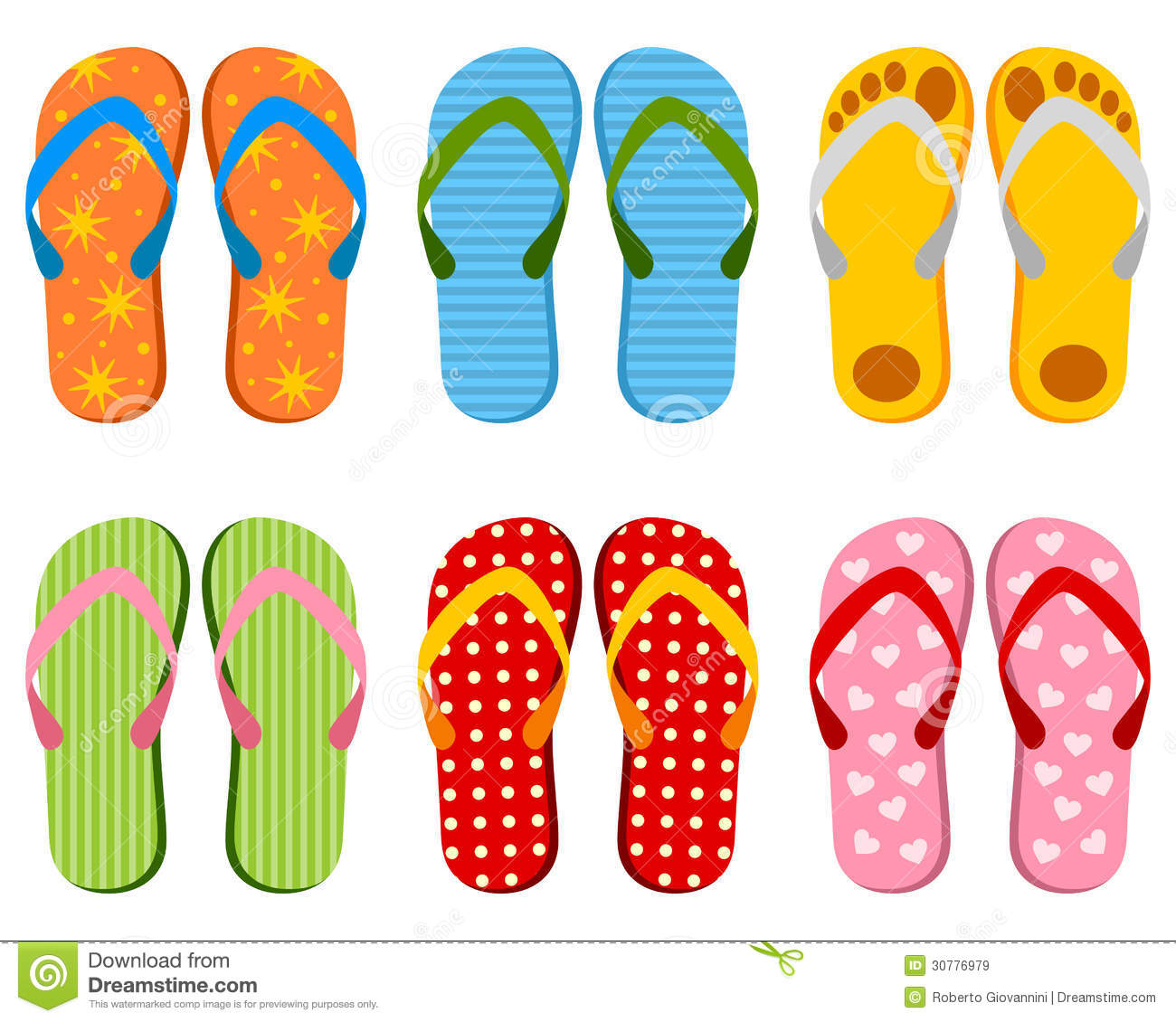Colorful Flip Flops Collection Royalty Free Stock Images ... - photo#48