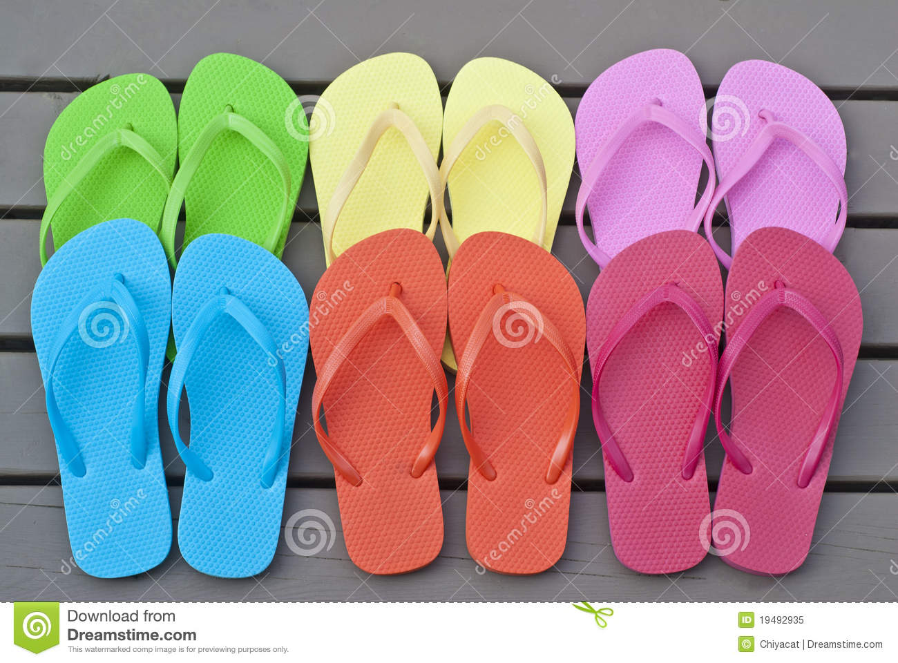 e831e4104 Colorful Flip Flops On The Deck Stock Image - Image of colorful ...