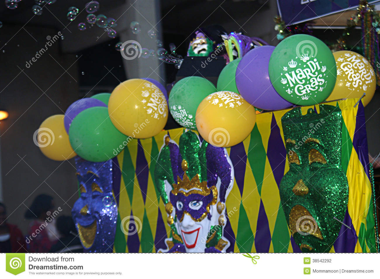 Colorful Float in Mardi Gras Parade