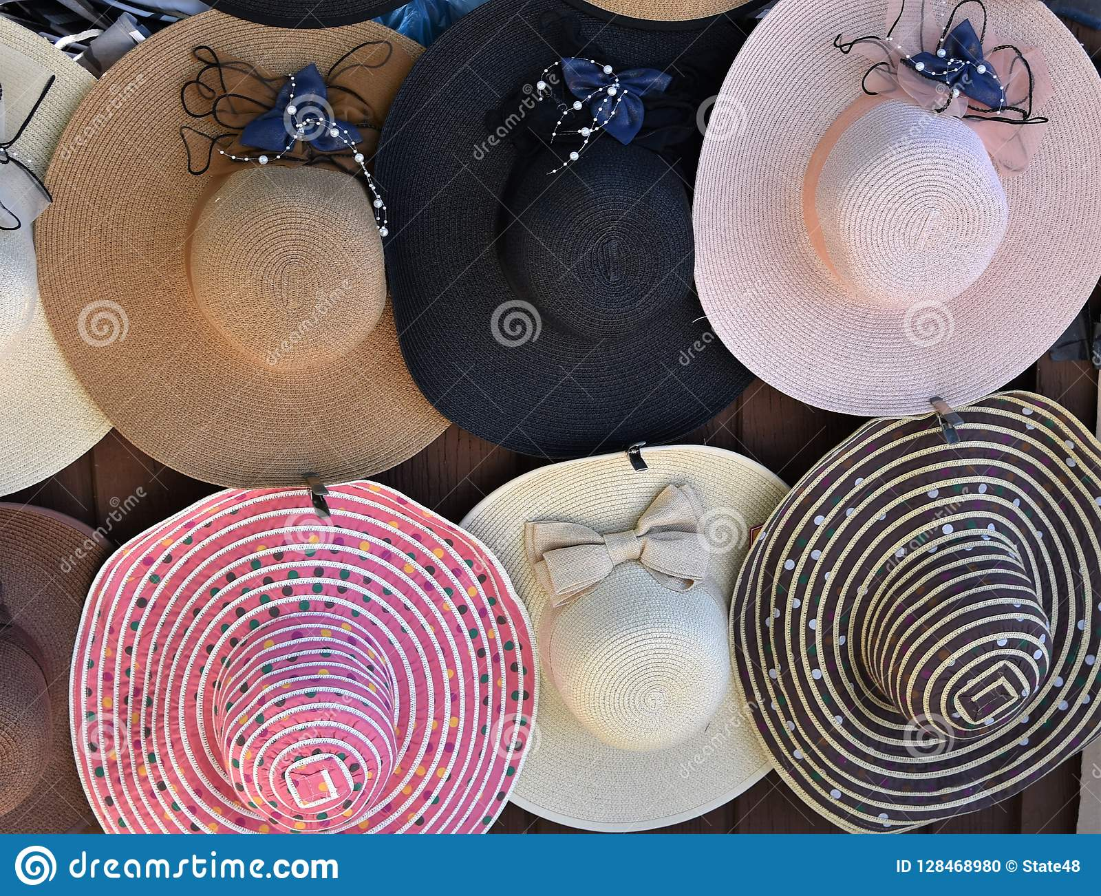 4fb29aff0075e Colorful Floppy Hats For Sale Stock Photo - Image of sale