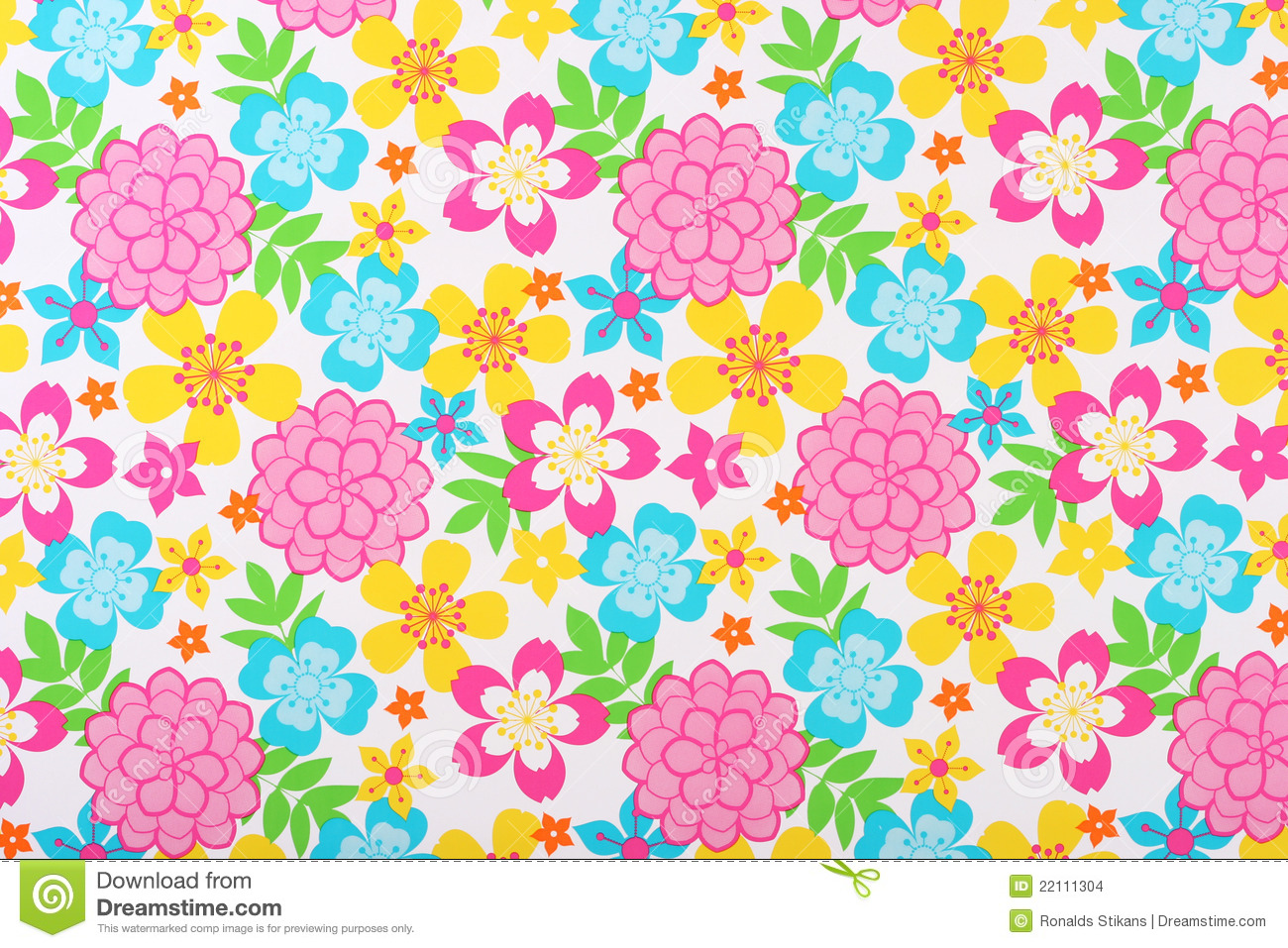 Colorful Floral Background Stock Images - Image: 22111304
