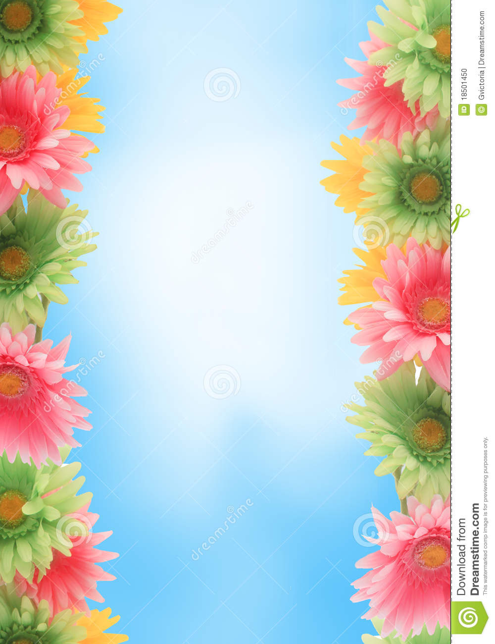 Pretty colorful gerber daisy border or frame with spring colors on ...: www.dreamstime.com/stock-photo-colorful-floral-spring-border...