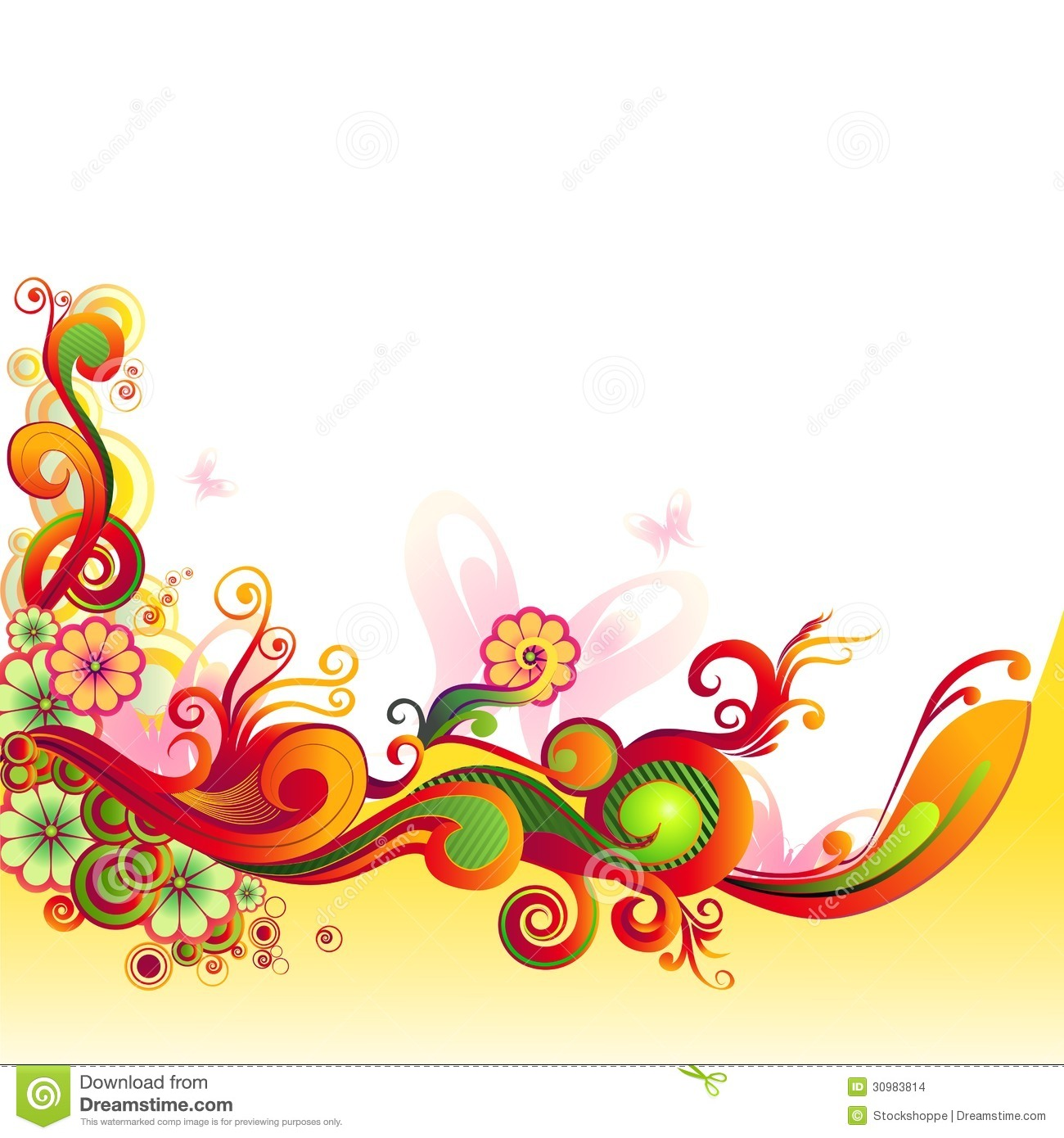 Colorful Floral Swirl Stock Images Image 30983814