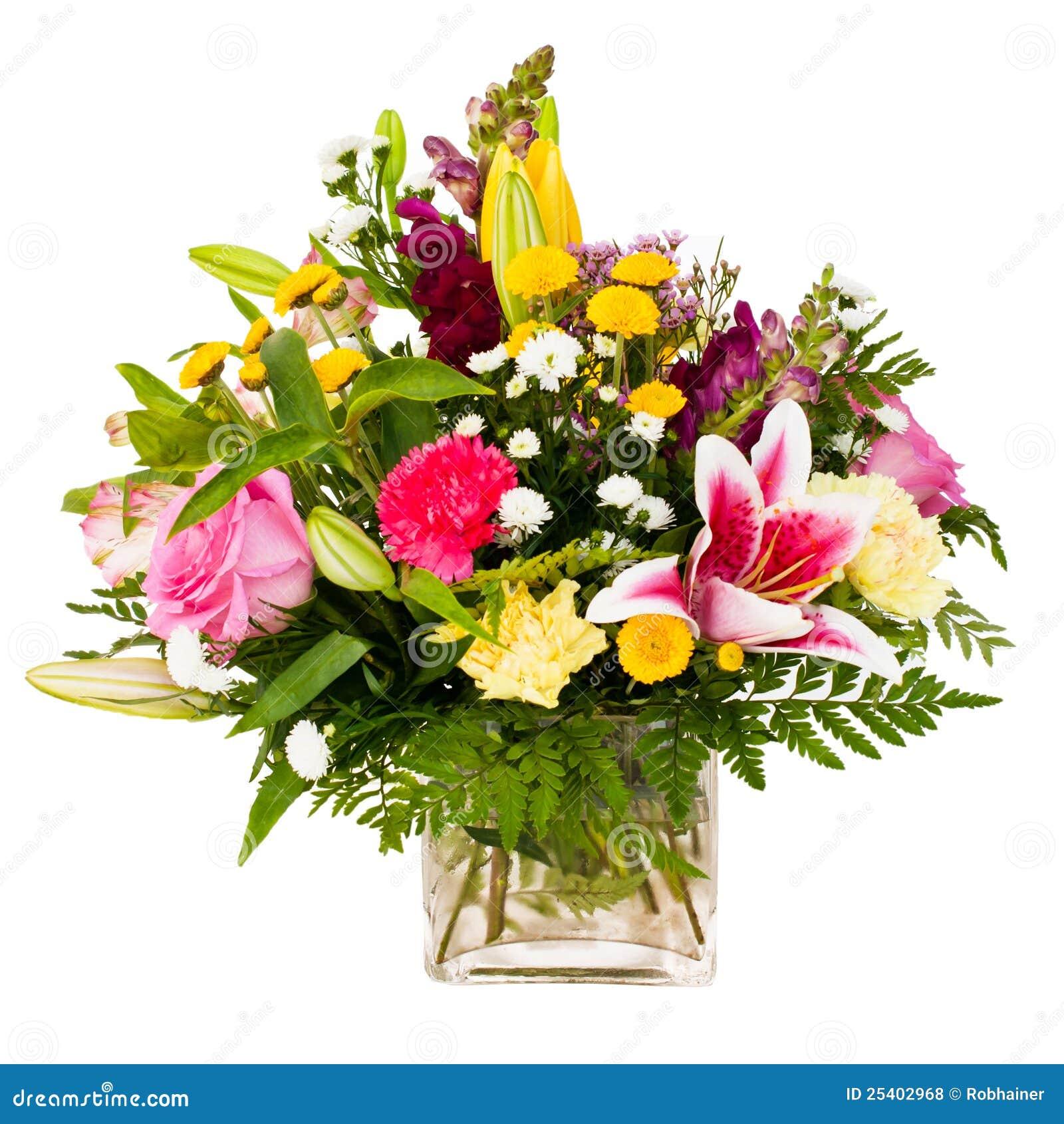 Colorful Flower Bouquet Arrangement Centerpiece Stock