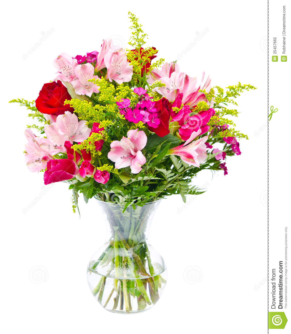Colorful Flower Bouquet Arrangement Centerpiece Stock Photo - Image ...