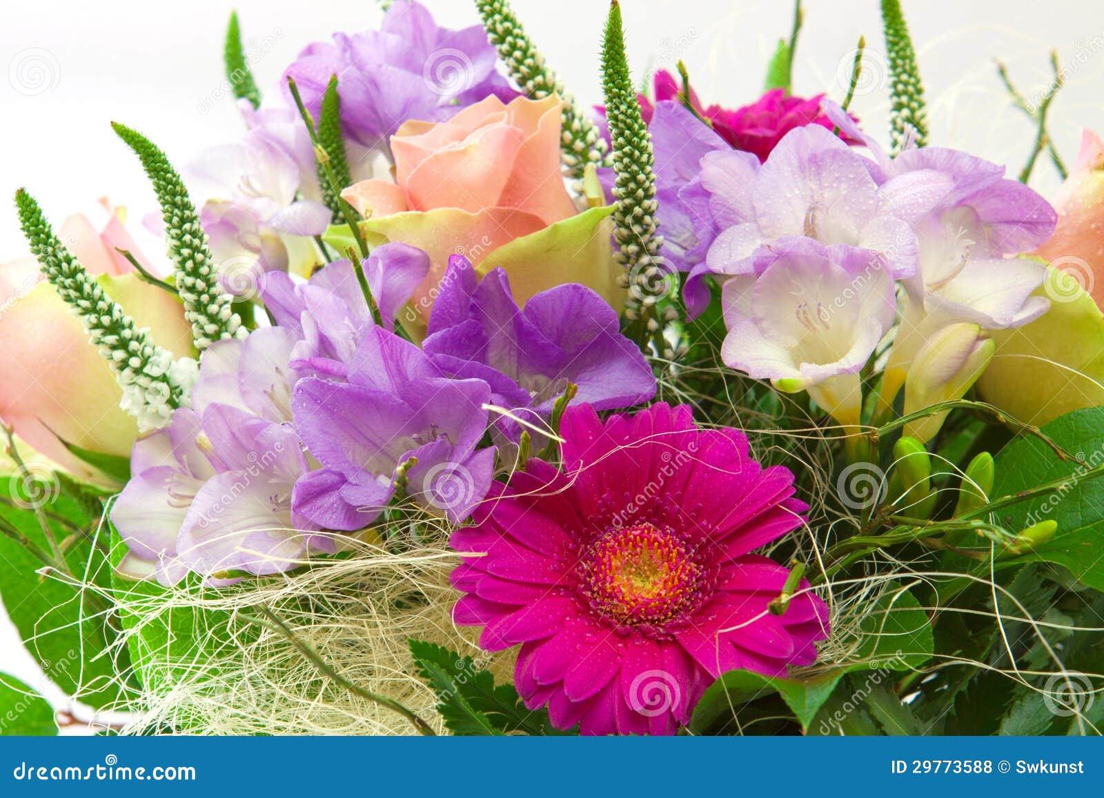Colorful flower bouquet stock photo image of gerbera for Bouquet de fleurs homme