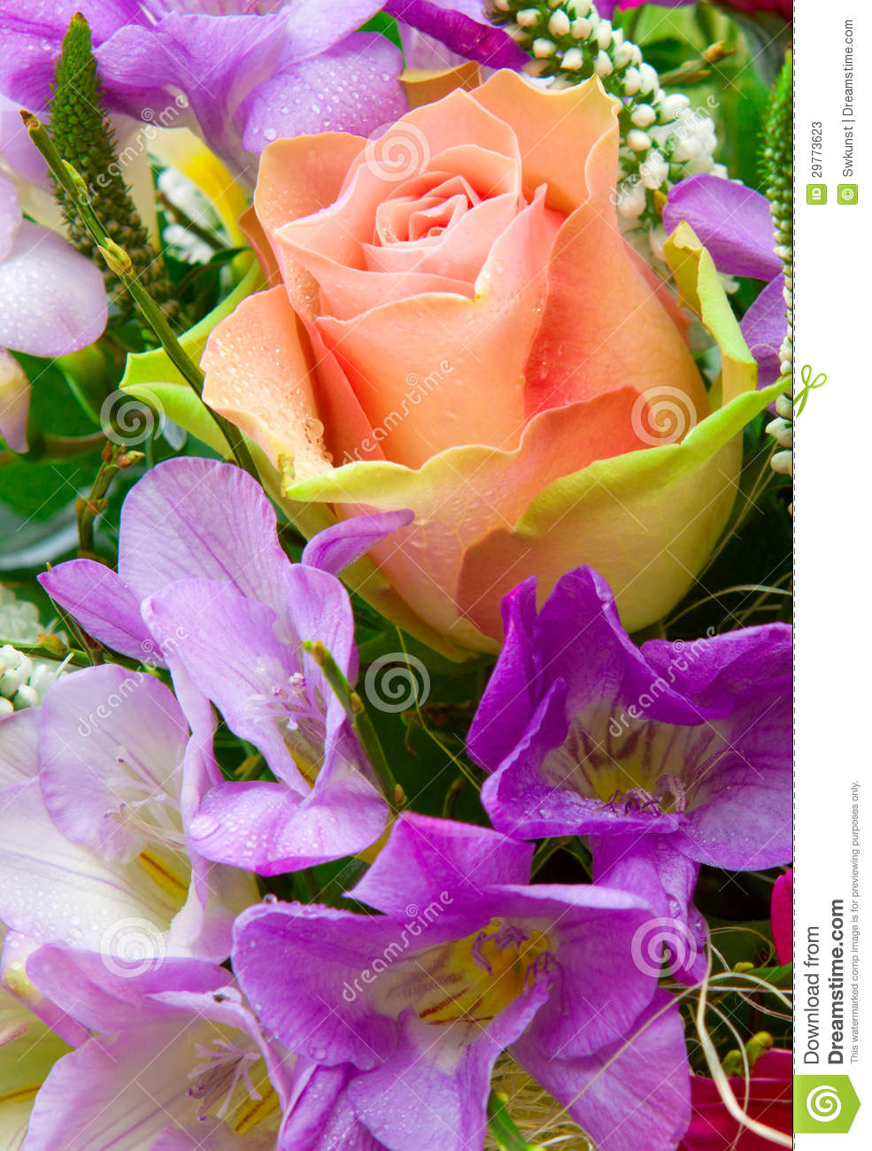 Colorful flower bouquet stock image image of leaves 29773623 colorful flower bouquet leaves rose izmirmasajfo Choice Image