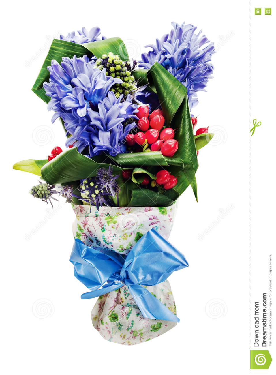Colorful Flower Bouquet Isolated On White Background. Stock Image ...