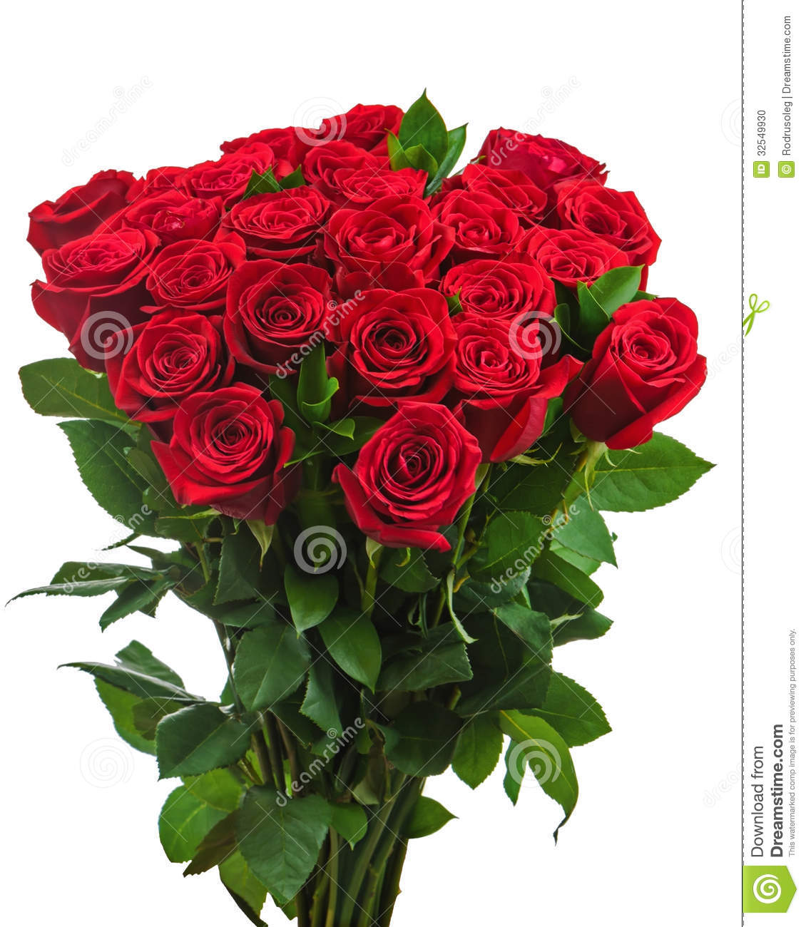 Colorful Flower Bouquet From Red Roses Isolated On White ...