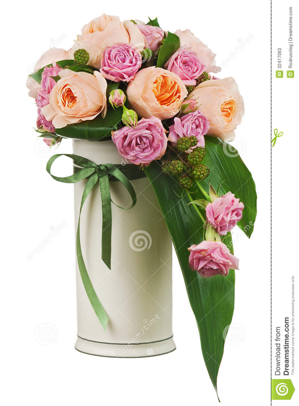 flower vase with flowers colorful flower bouquet from - Flower Vase