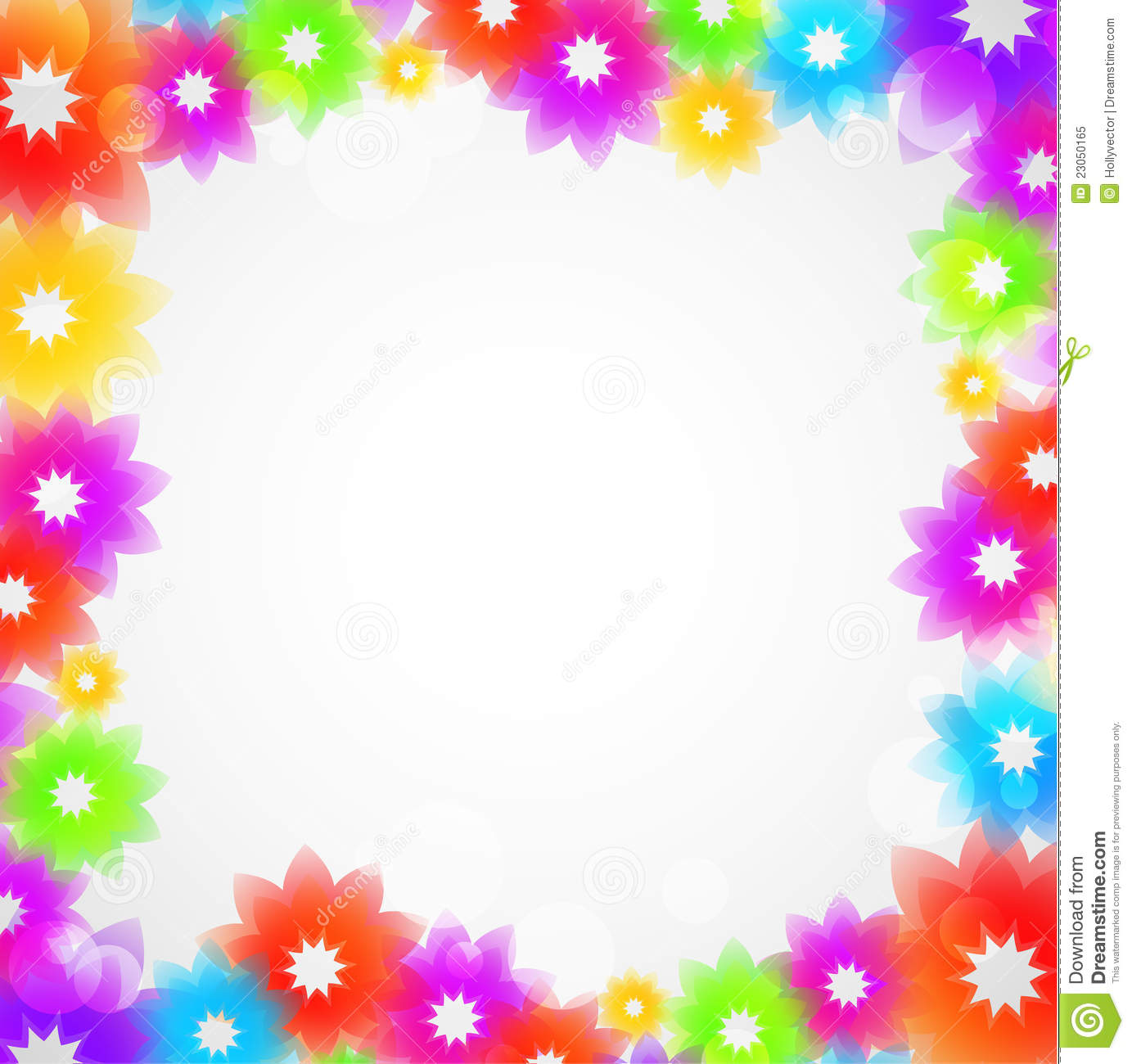 Colorful Flower Frame Royalty Free Stock Photo - Image: 23050165