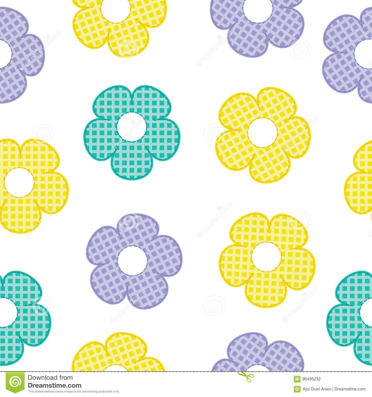 colorful flower seamless pattern for baby clothes background and