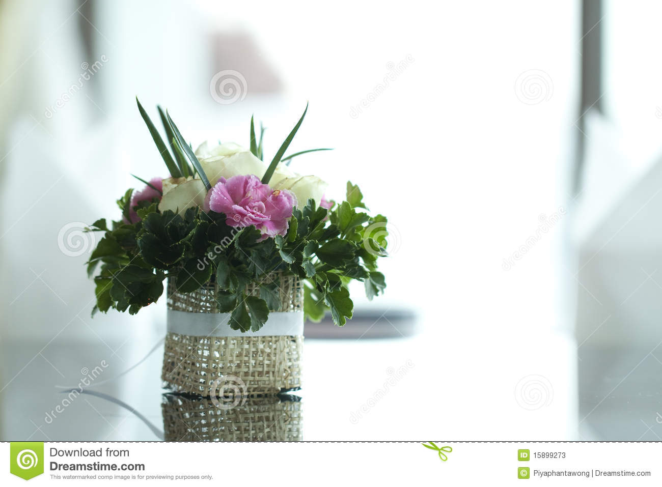 Colorful Flower On Table Stock Photos Image 15899273